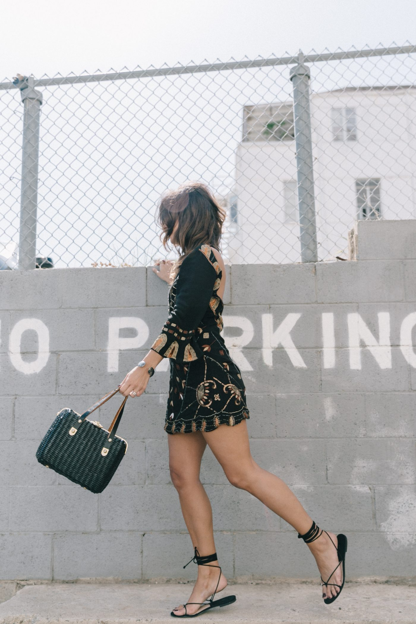 Boho_Dress-Jens_Pirate_Booty-Black_Beaded_Dress-Lace_Up_Sandals-Los_Angeles-Outfit-Collage_Vintage-54