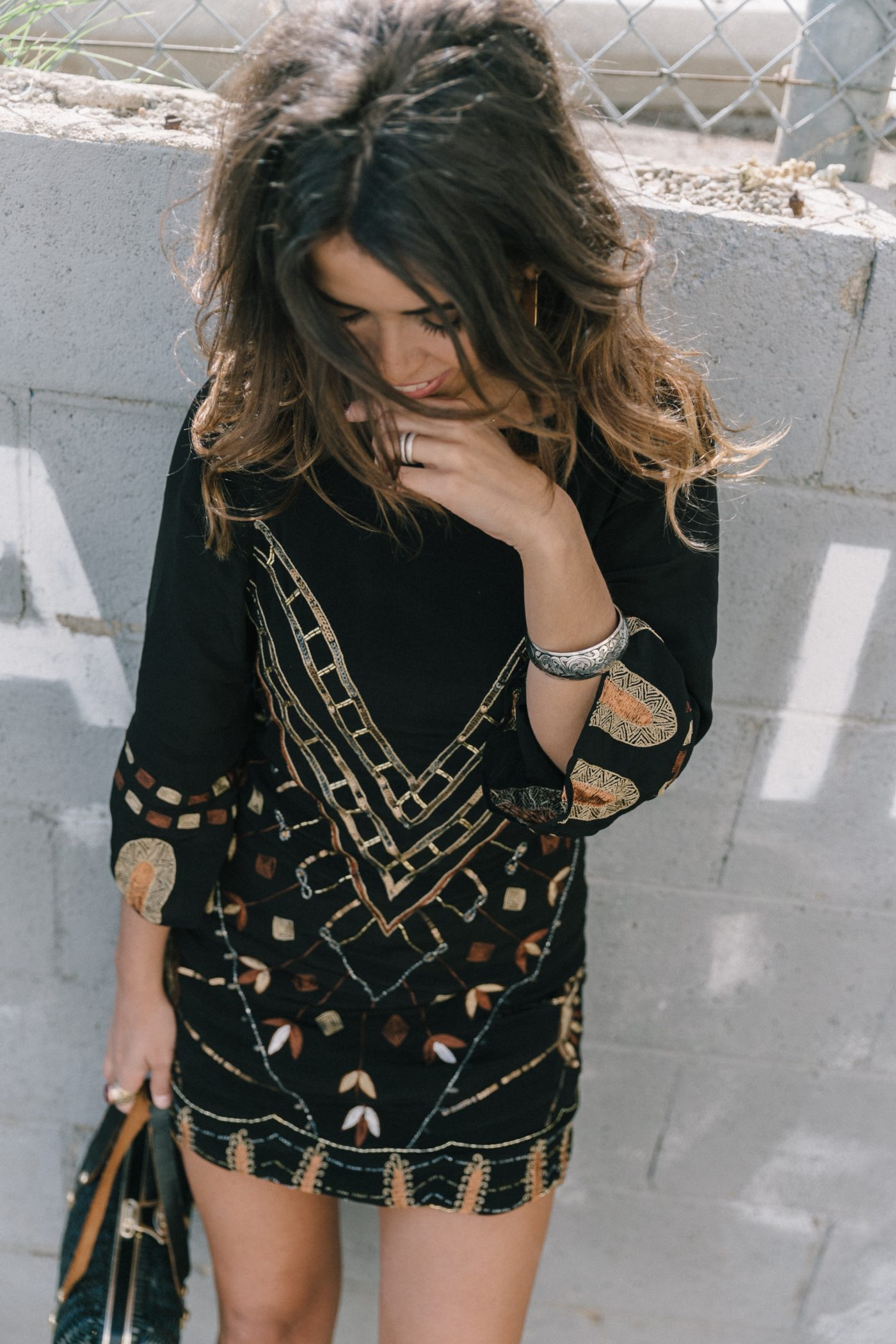 Boho_Dress-Jens_Pirate_Booty-Black_Beaded_Dress-Lace_Up_Sandals-Los_Angeles-Outfit-Collage_Vintage-71