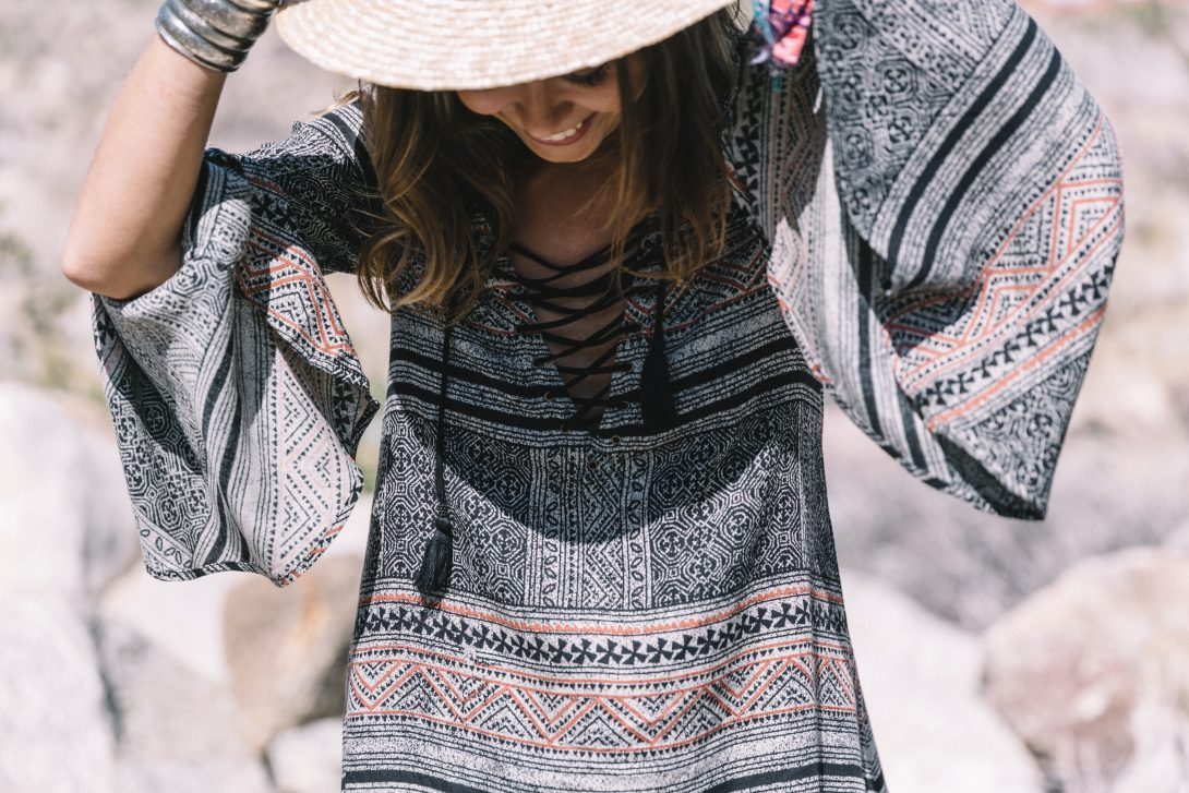 Boho_Dress-Lace_Up_Dress-Lack_of_Color-Revolve_Clothing-Straw_Hat-Soludos_Espadrilles-Palm_Springs-Outfit-Collage_Vintage-46