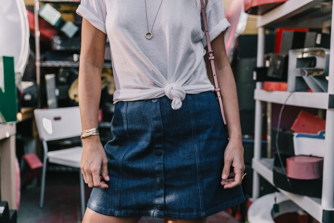 Calvin_Klein-Denim_Skirt-CK_Collection-Los_Angeles-Nick_Metropolis-Saint_Laurent_Sneakers-Pink_Bag-Outfit-Collage_Vintage--12