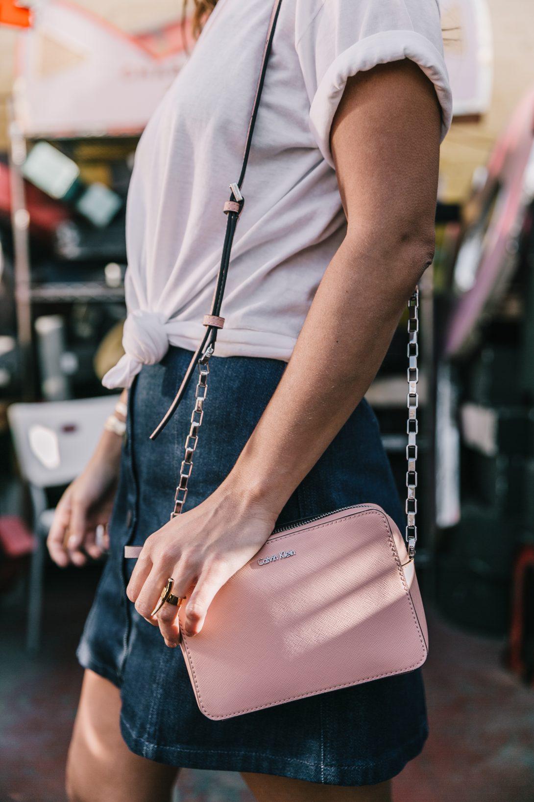 Calvin_Klein-Denim_Skirt-CK_Collection-Los_Angeles-Nick_Metropolis-Saint_Laurent_Sneakers-Pink_Bag-Outfit-Collage_Vintage--15