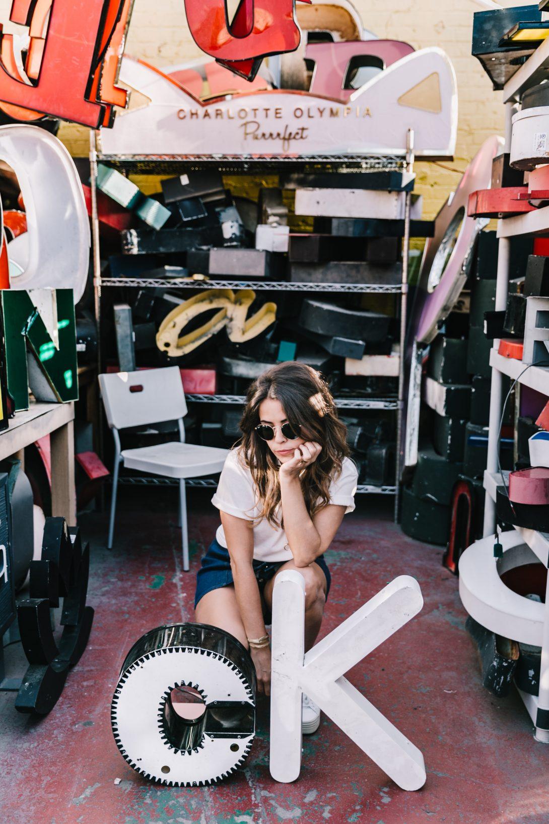 Calvin_Klein-Denim_Skirt-CK_Collection-Los_Angeles-Nick_Metropolis-Saint_Laurent_Sneakers-Pink_Bag-Outfit-Collage_Vintage--33