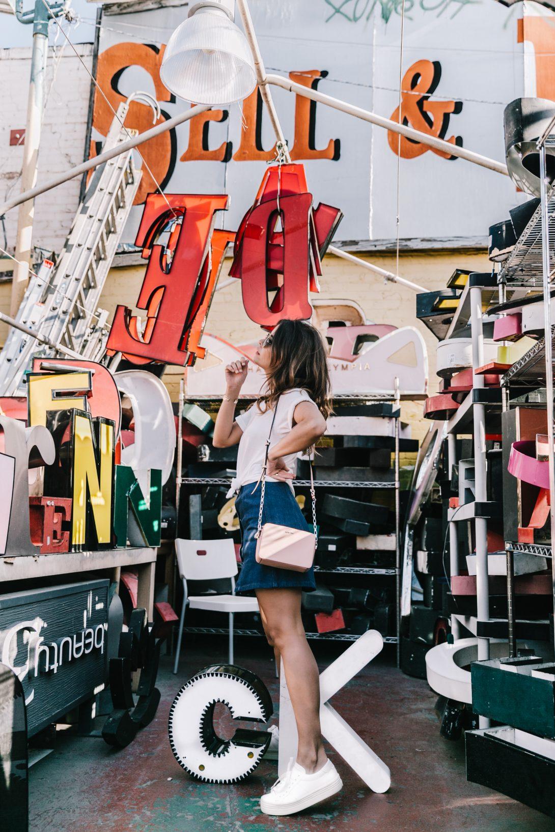 Calvin_Klein-Denim_Skirt-CK_Collection-Los_Angeles-Nick_Metropolis-Saint_Laurent_Sneakers-Pink_Bag-Outfit-Collage_Vintage--39