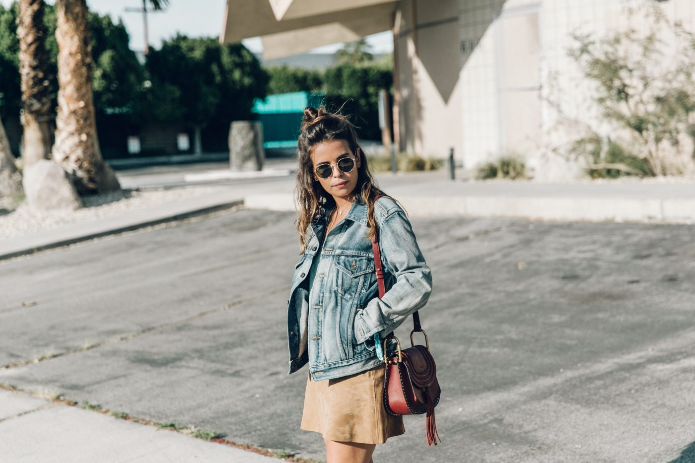 Denim_Jacket-Saint_Laurent-Chloe_Top-Suede_Skirt-Chloe_Hudson_Bag-Espadrilles-Coachella-Palm_Springs-Outfit-Collage_Vintage-79