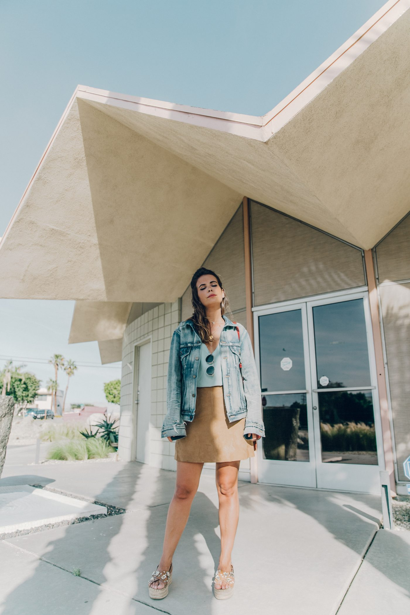 Denim_Jacket-Saint_Laurent-Chloe_Top-Suede_Skirt-Chloe_Hudson_Bag-Espadrilles-Coachella-Palm_Springs-Outfit-Collage_Vintage-8