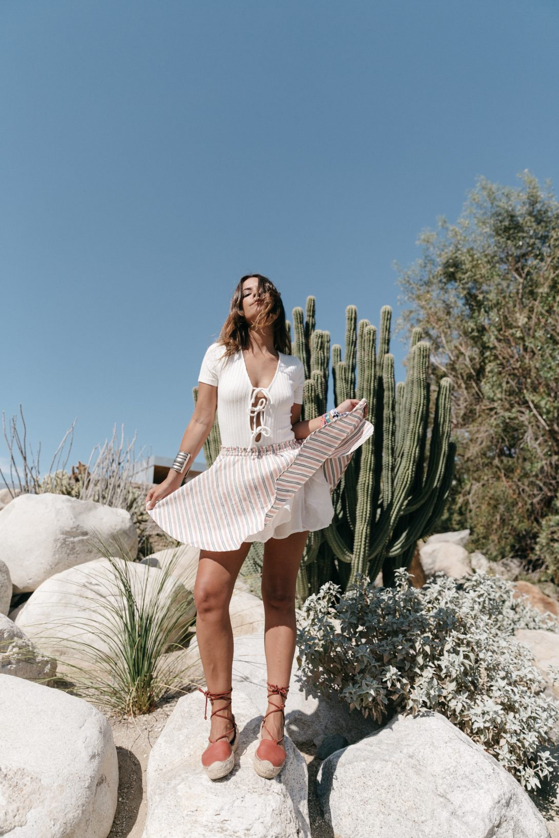 Lace_Up_Body-Privacy_Please-Revolve_Clothing-Striped_Mini_Skirt-Soludos_Espadrilles-Palm_Springs-Outfit-Collage_Vintage-52