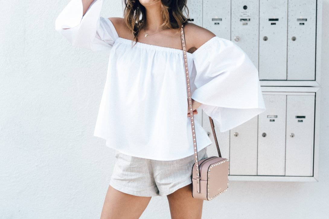 Off_The_Shoulders-Chicwish-Valentino_Bag-Monnier_Fevres-Sneakers-Saint_Laurent-Reformation_Shorts-Outfit-Los_Angeles--18