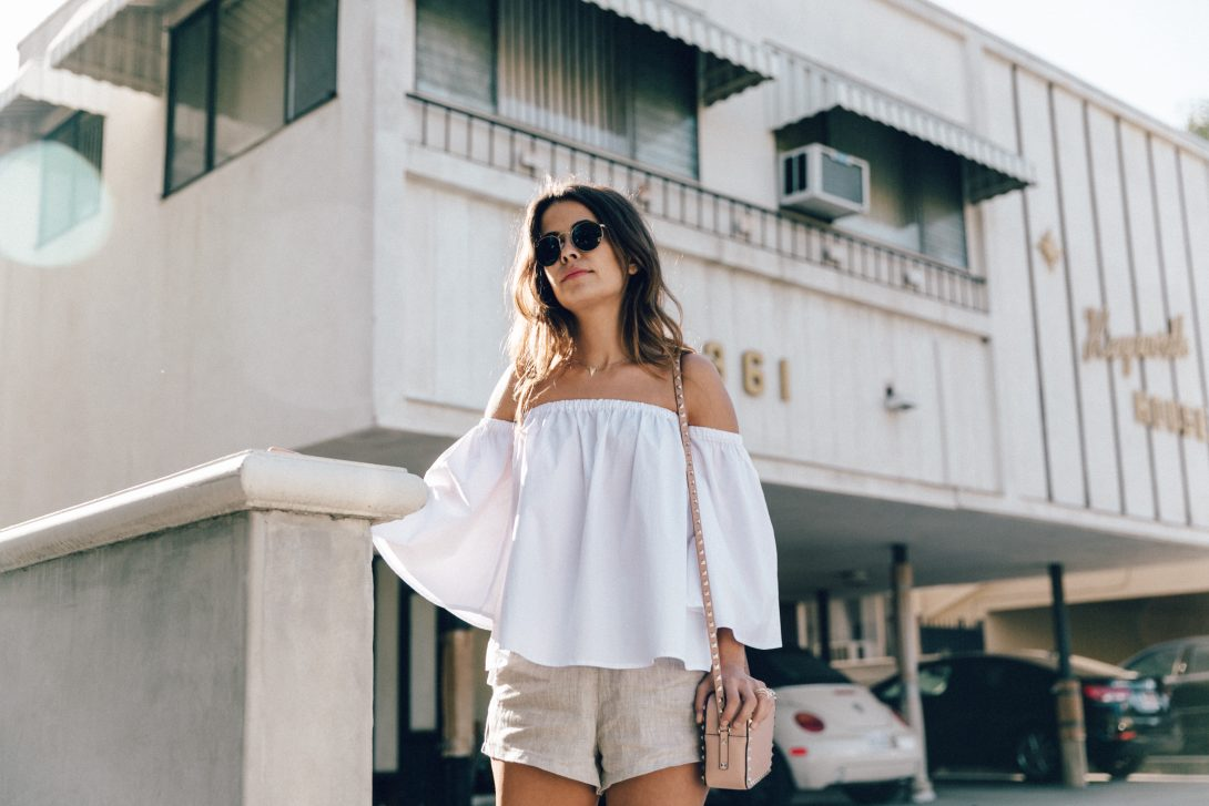 Off_The_Shoulders-Chicwish-Valentino_Bag-Monnier_Fevres-Sneakers-Saint_Laurent-Reformation_Shorts-Outfit-Los_Angeles--50