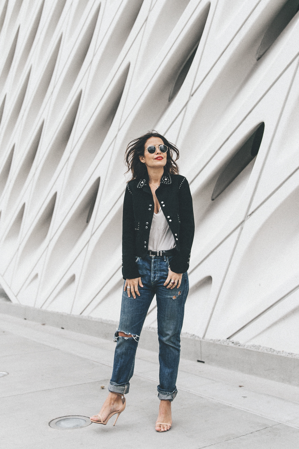 Sandro_Paris-Suede_Jacket-Citizen_OF_Humanity_Jeans-Raye_Sandals-The_Broad-Downtown_Los_Angeles-Outfit-Street_Style-30