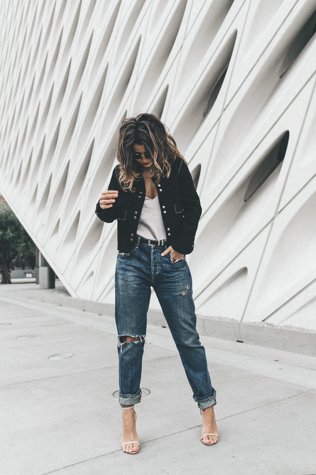 Sandro_Paris-Suede_Jacket-Citizen_OF_Humanity_Jeans-Raye_Sandals-The_Broad-Downtown_Los_Angeles-Outfit-Street_Style-43