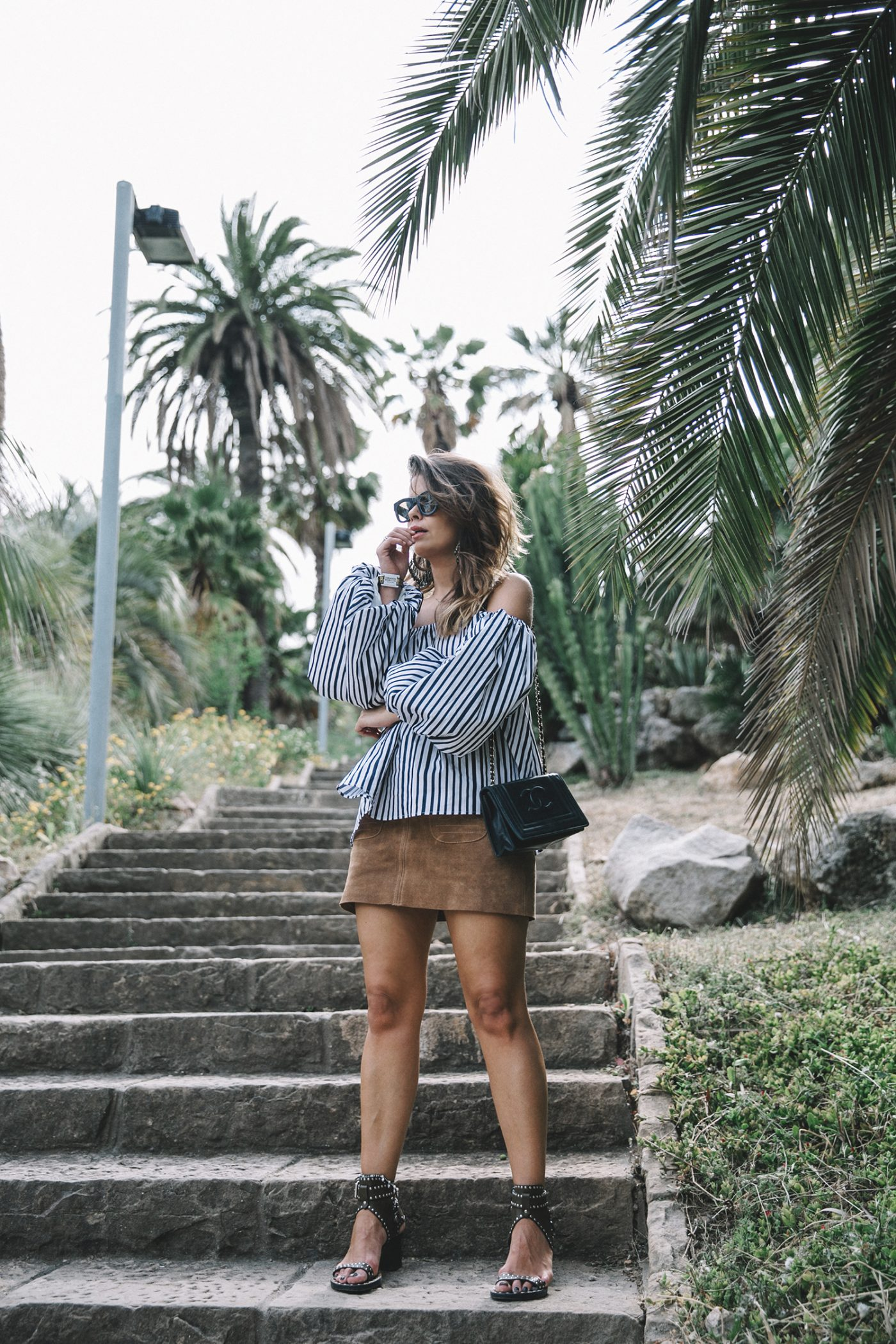 Chicwish-Off_The_Shoulders_Top-Outfit-Suede_Skirt-Free_People-Isabel_marant_Sandals-Chanel_Vintage_Bag-Statement_Earrings-Boho-Collage_Vintage-36