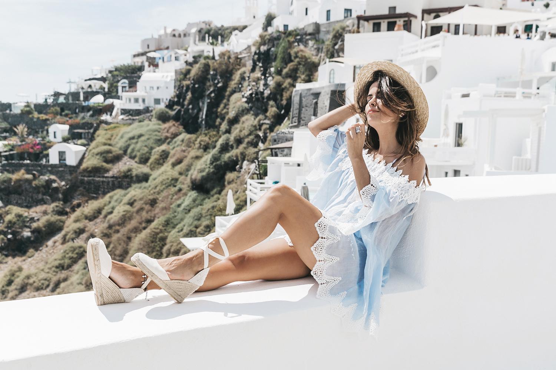 Blue_Dress-Soludos_Escapes-Soludos_Espadrilles-Canotier-Hat-Lack_Of_Color-Summer-Santorini-Collage_Vintage-45