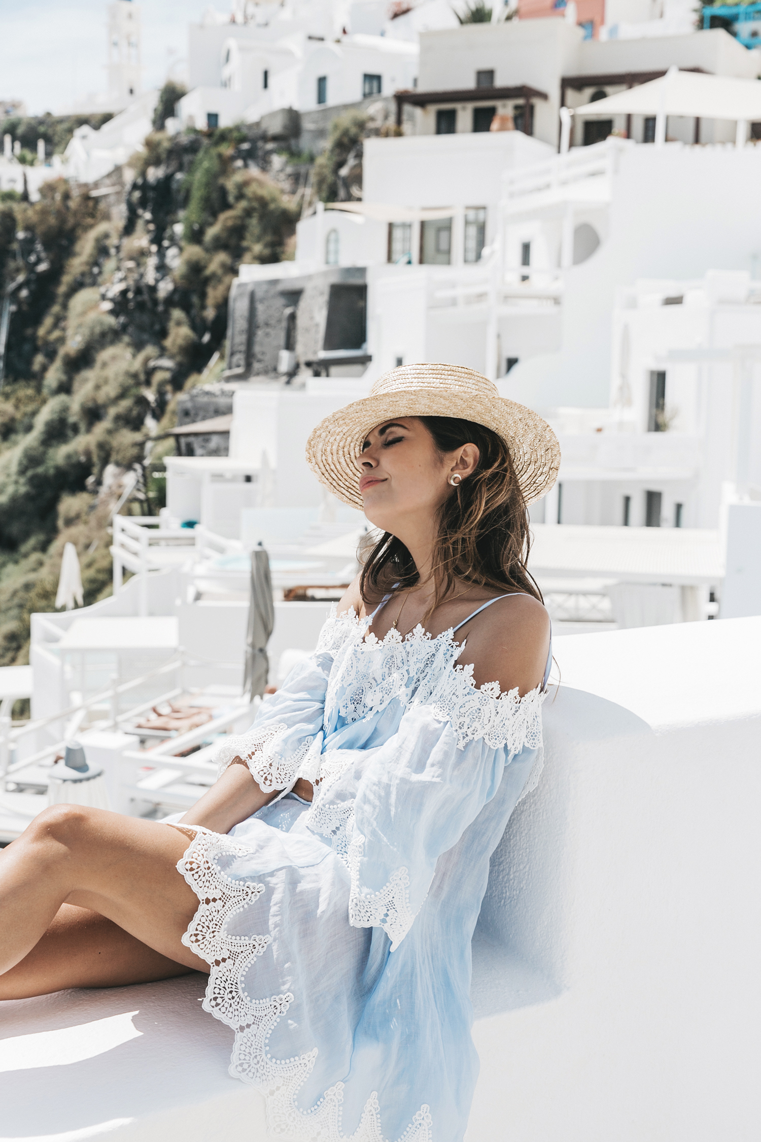 Blue_Dress-Soludos_Escapes-Soludos_Espadrilles-Canotier-Hat-Lack_Of_Color-Summer-Santorini-Collage_Vintage-48