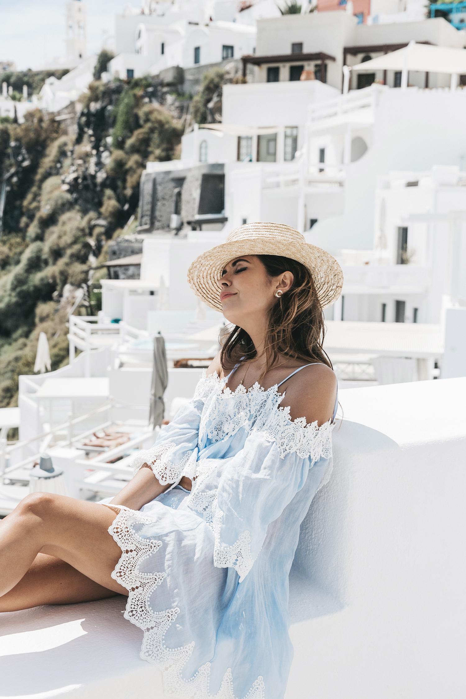 Blue_Dress-Soludos_Escapes-Soludos_Espadrilles-Canotier-Hat-Lack_Of_Color-Summer-Santorini-Collage_Vintage-48