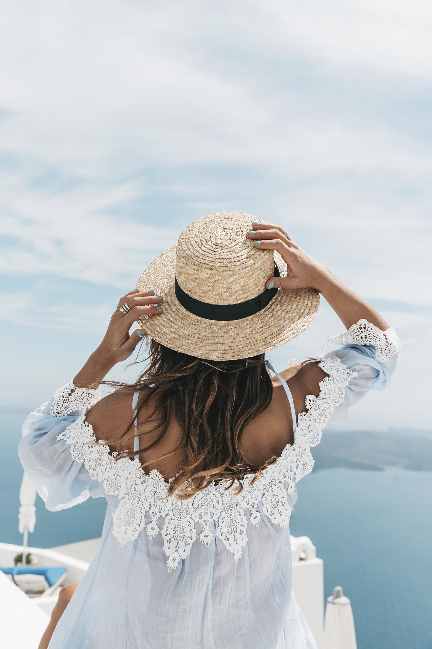Blue_Dress-Soludos_Escapes-Soludos_Espadrilles-Canotier-Hat-Lack_Of_Color-Summer-Santorini-Collage_Vintage-67