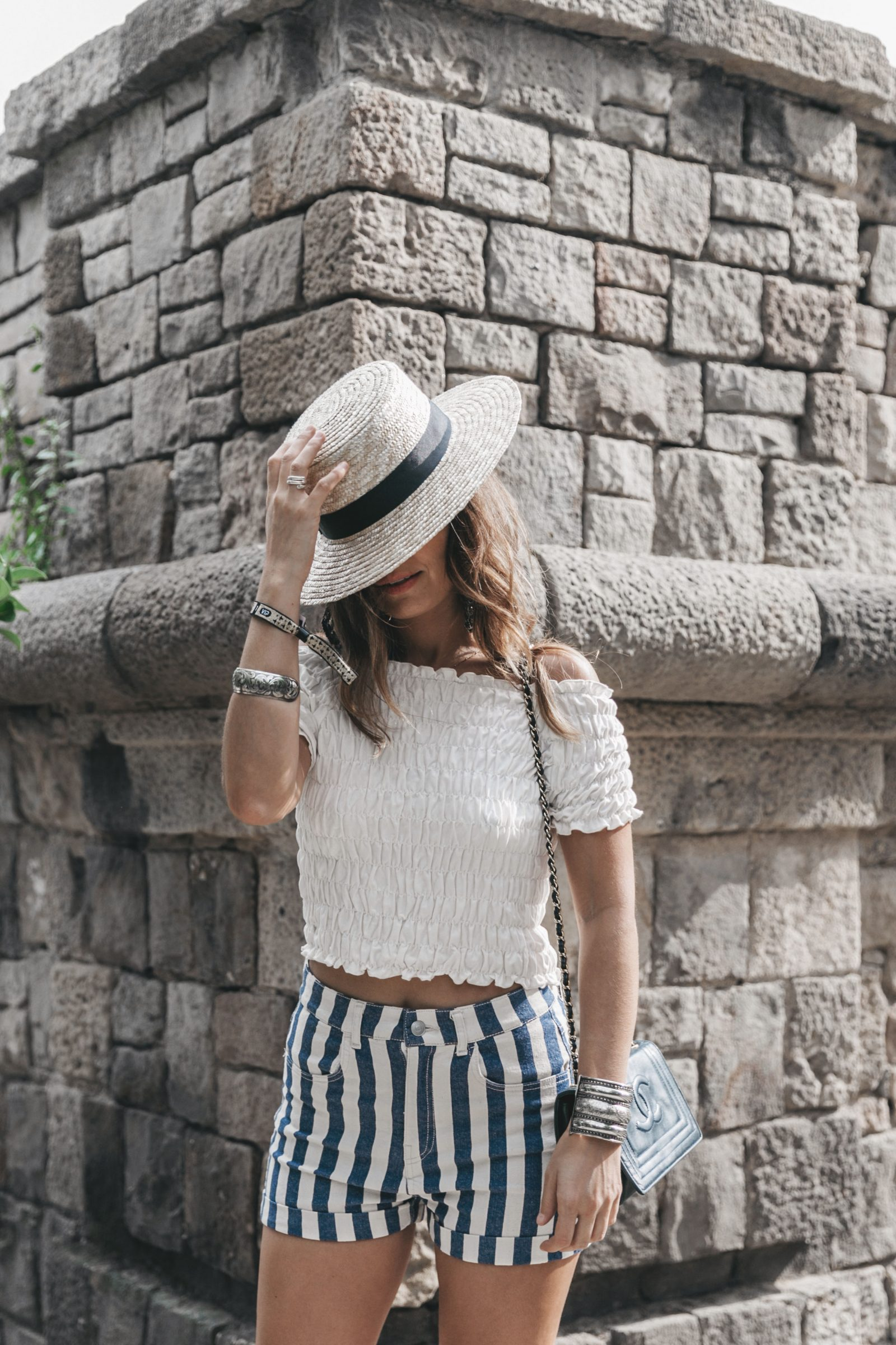 Primavera_Sound-HM-Stripped_Shorts-Canotier-Hat-Espadrilles-Outfit-Summer-Collage_Vintage-35