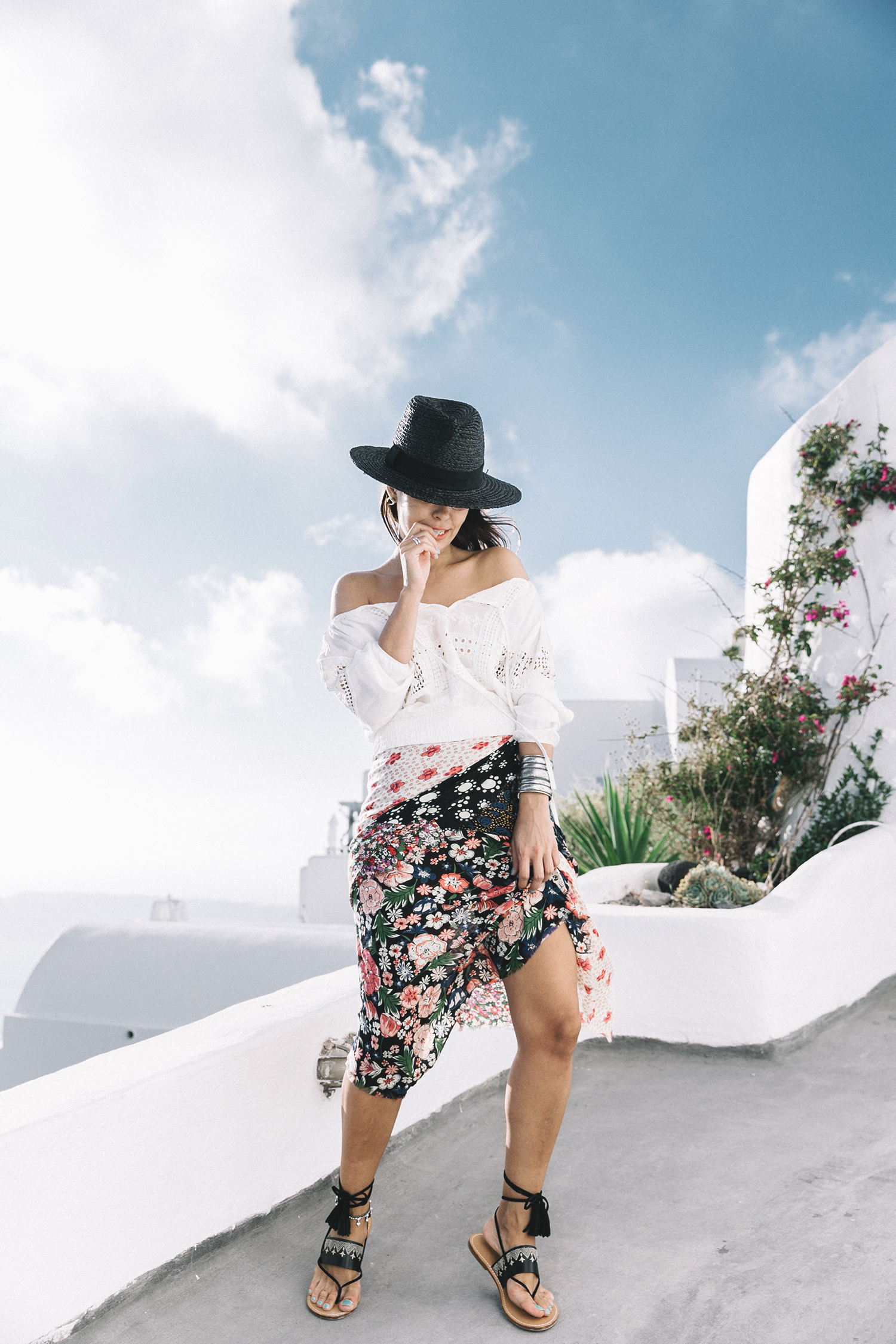 Scarf_As_Skirt_Boho_Top-Straw_Hat-Soludos_Escapes-Soludos_Espadrilles-Summer-Santorini-Collage_Vintage-43