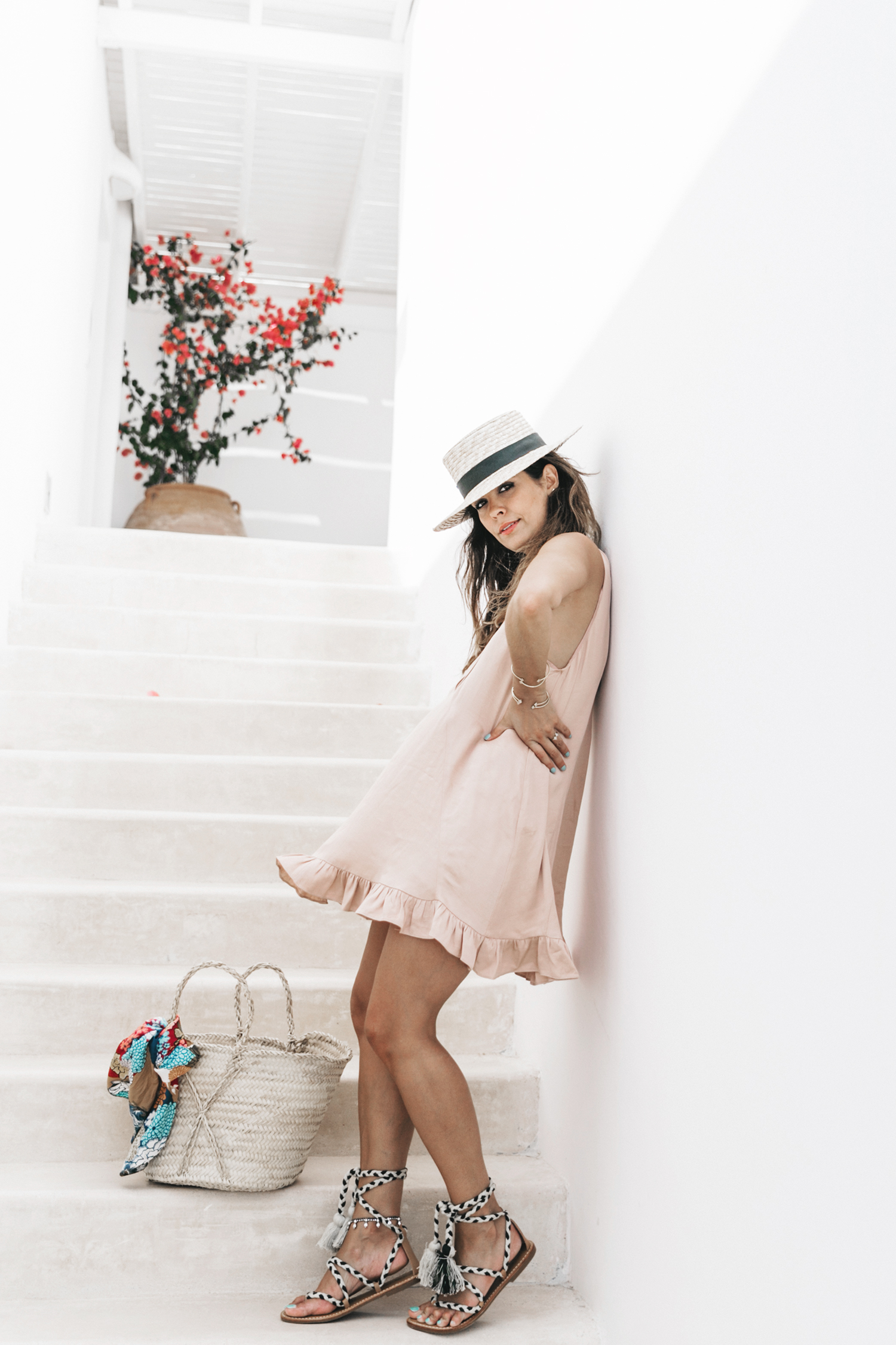 Soludos-Soludos_Escapes-Light_Pink_Dress-Knotted_Sandals-Mykonos-Greece-Collage_Vintage-Summer_Outfit-Street_Style-34