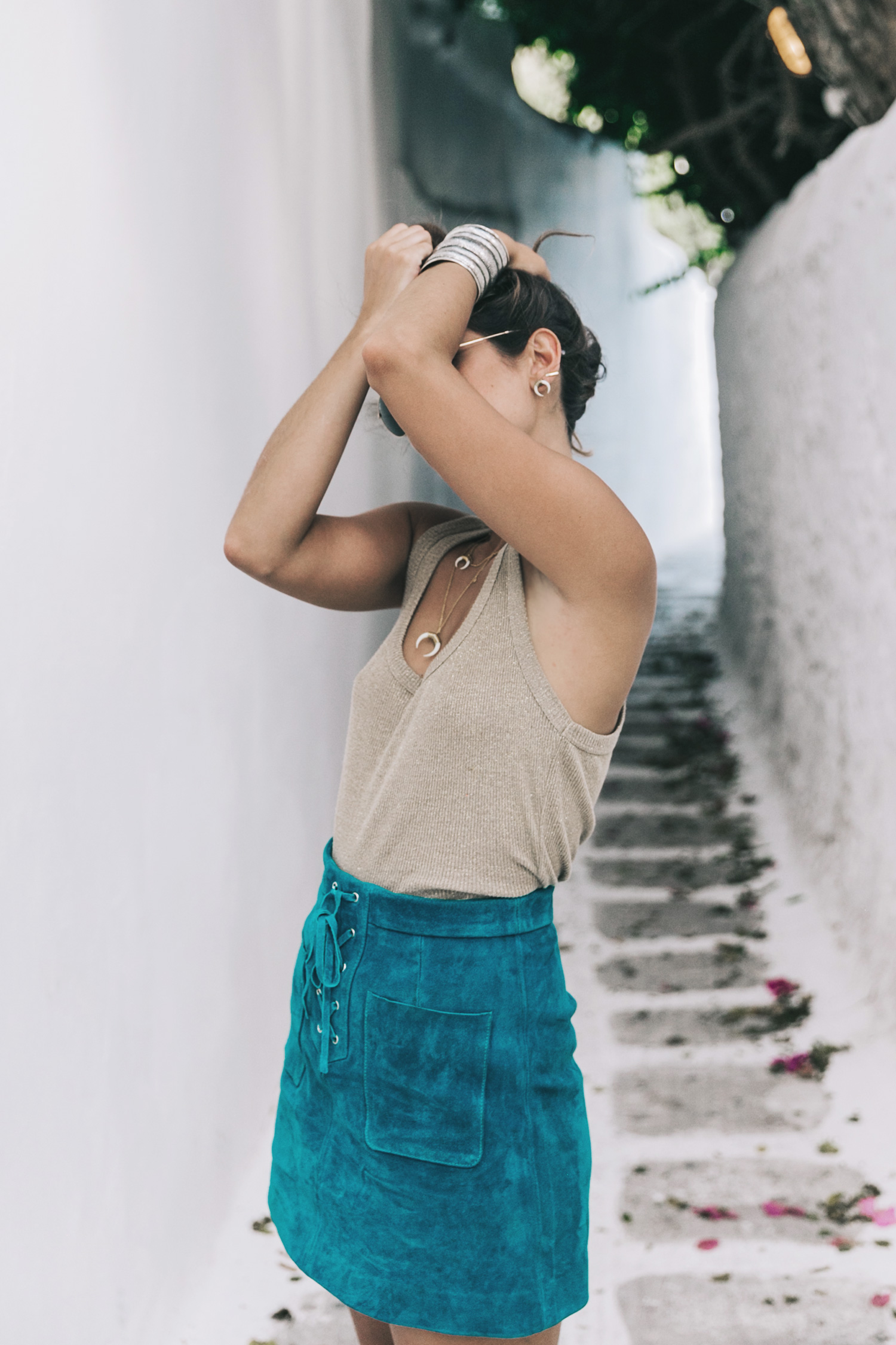 Gold_Top-Metallic_Trend-Suede_Skirt-Turquoise_Skirt-Soludos_Espadrilles-Soludos_Escapes-Mykonos-Greece-Collage_Vintage-Street_Style-64