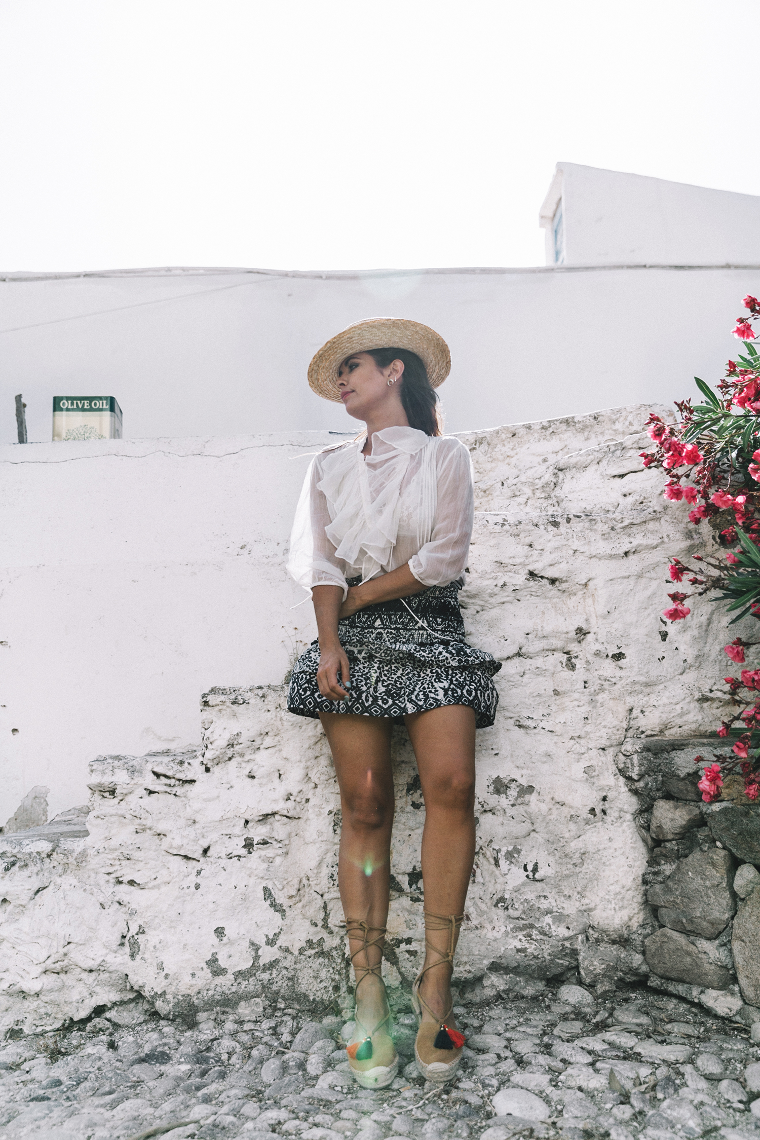 Lace_up_Blouse-Ralph_Lauren-Soludos_Espadrilles-Soludos_Escapes-Skirt-Straw_Hat-Canotier-Lack_Of_Color-Street_Style-Mykonos-Greece-Collage_Vintage-40