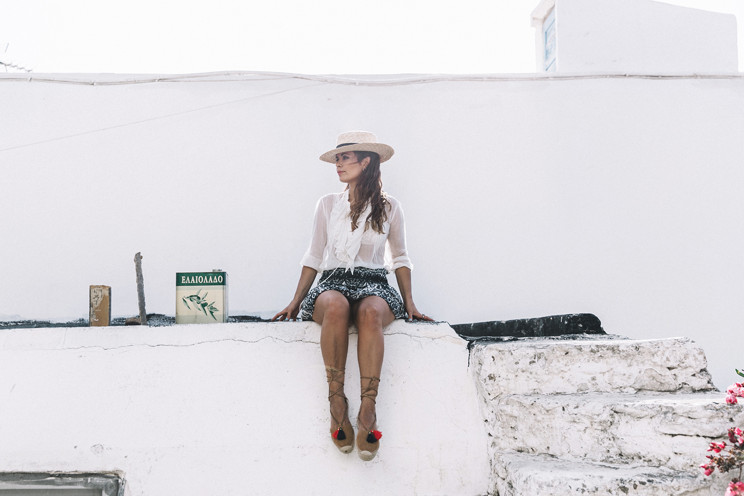 Lace_up_Blouse-Ralph_Lauren-Soludos_Espadrilles-Soludos_Escapes-Skirt-Straw_Hat-Canotier-Lack_Of_Color-Street_Style-Mykonos-Greece-Collage_Vintage-56