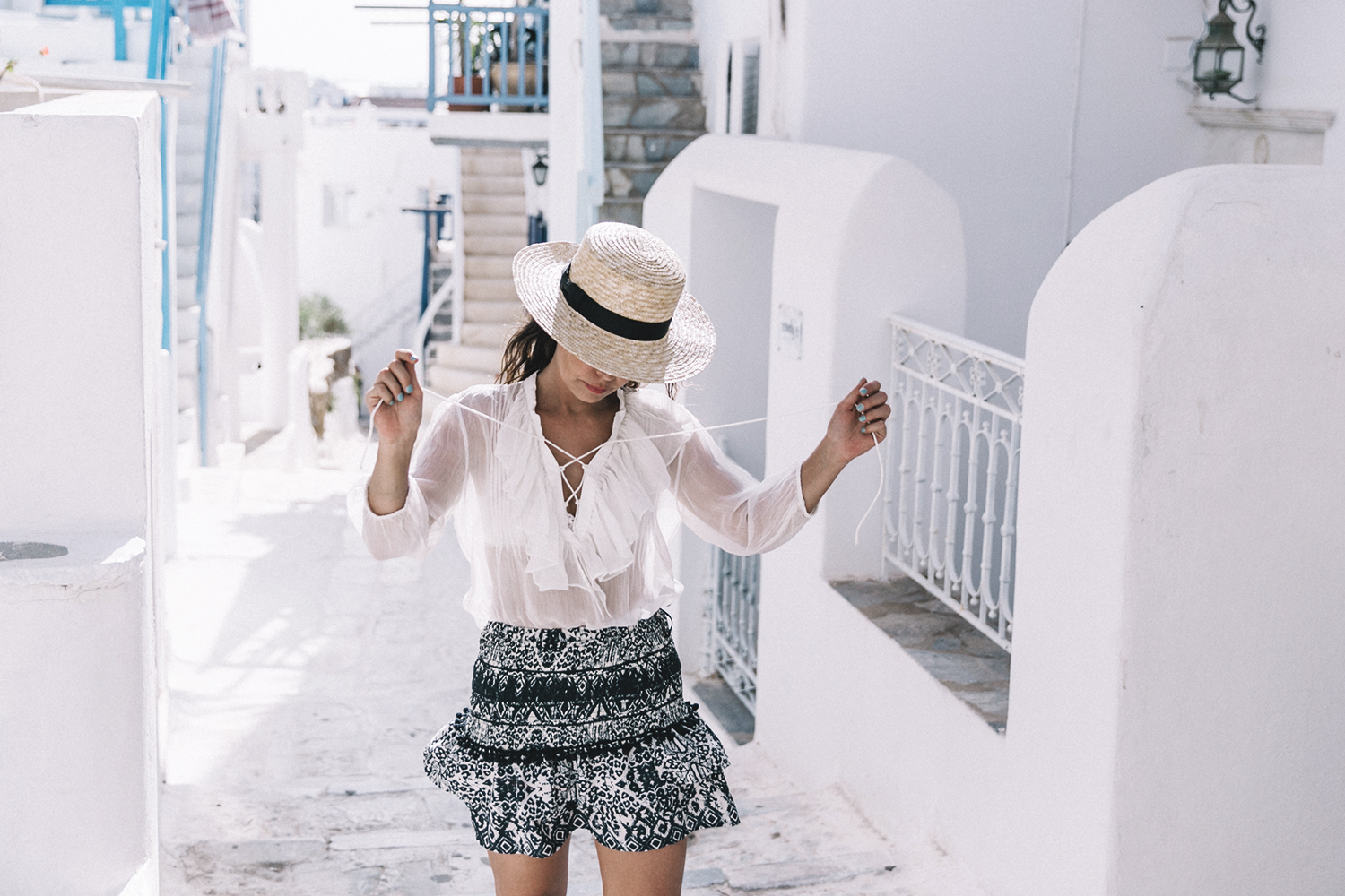 Lace_up_Blouse-Ralph_Lauren-Soludos_Espadrilles-Soludos_Escapes-Skirt-Straw_Hat-Canotier-Lack_Of_Color-Street_Style-Mykonos-Greece-Collage_Vintage-69