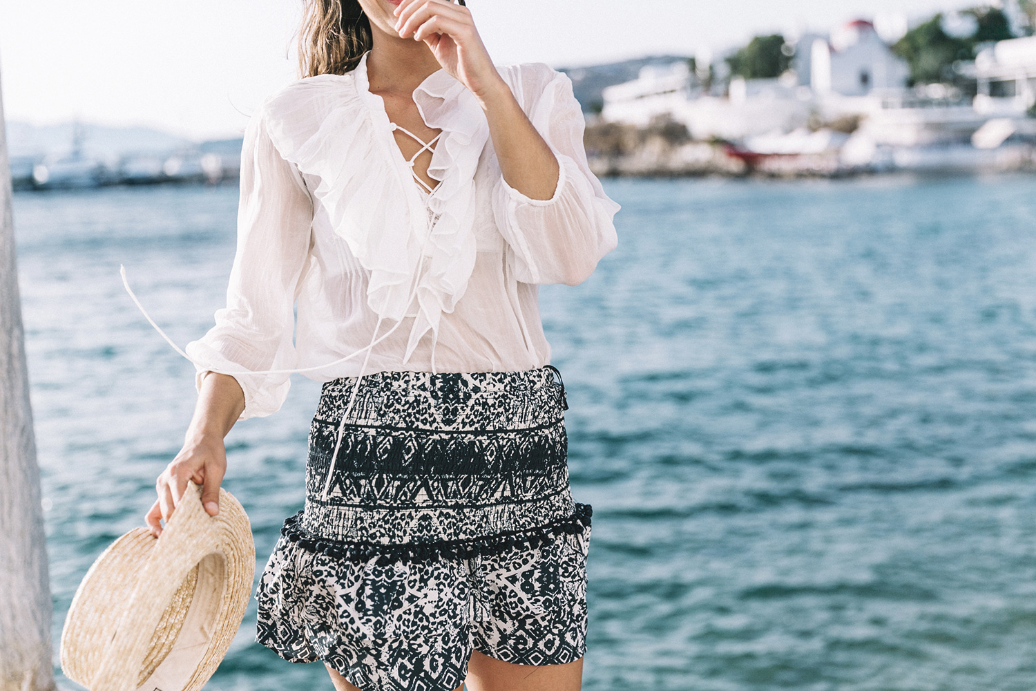 Lace_up_Blouse-Ralph_Lauren-Soludos_Espadrilles-Soludos_Escapes-Skirt-Straw_Hat-Canotier-Lack_Of_Color-Street_Style-Mykonos-Greece-Collage_Vintage-89