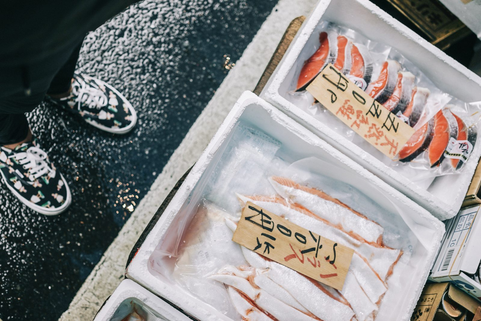 Tokyo_Travel_Guide-Fish_Market-Harajuku-Levis_Denim_Skirt-Off_The_Shoulders_Top-YSL_Sneakers-Outfit-Collage_Vintage-Street_Style-60