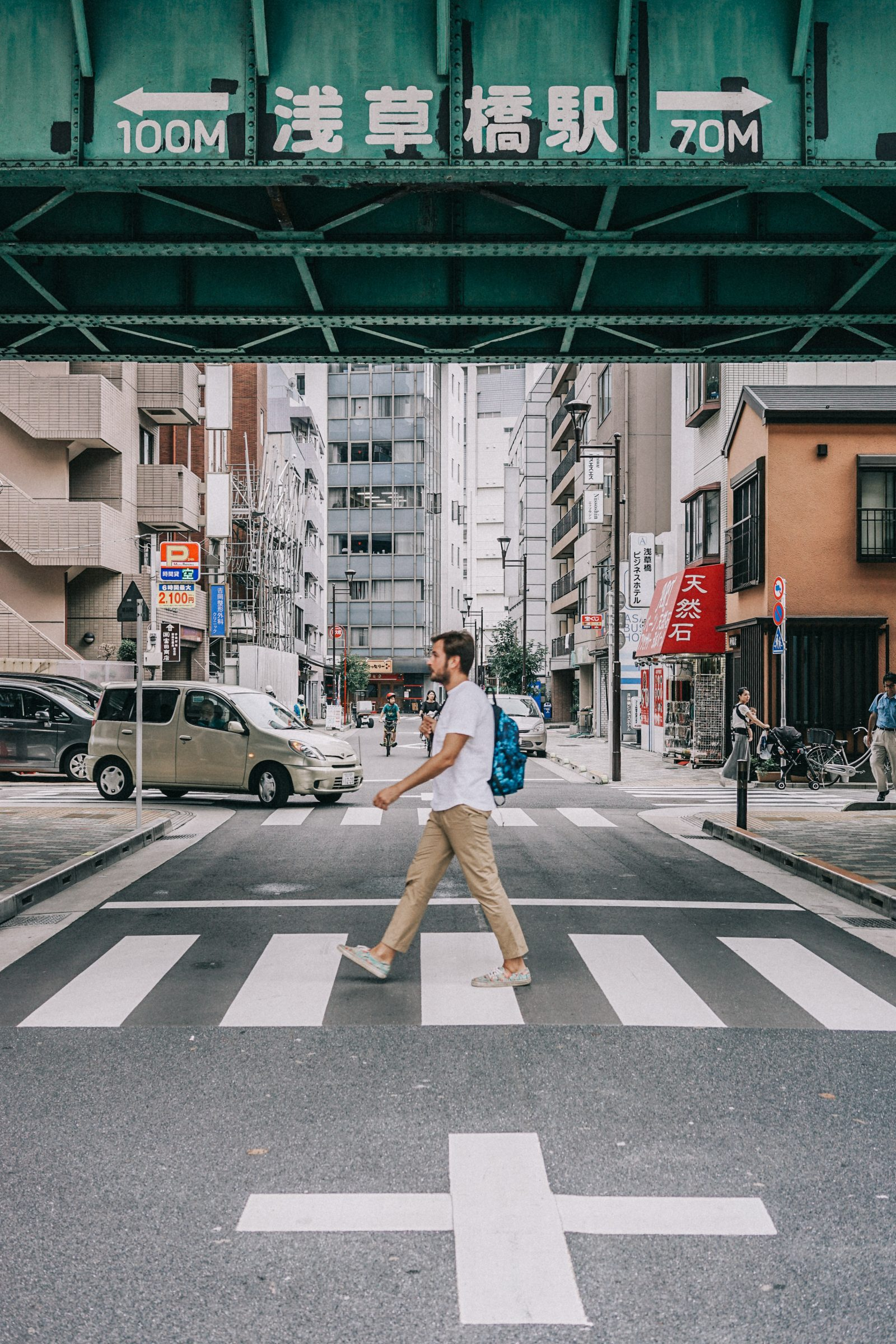 tokyo_travel_guide-outfit-collage_vintage-street_style-lovers_and_friends_jumpsuit-white_outfit-espadrilles-backpack-levis_denim_jacket-akihabara-106