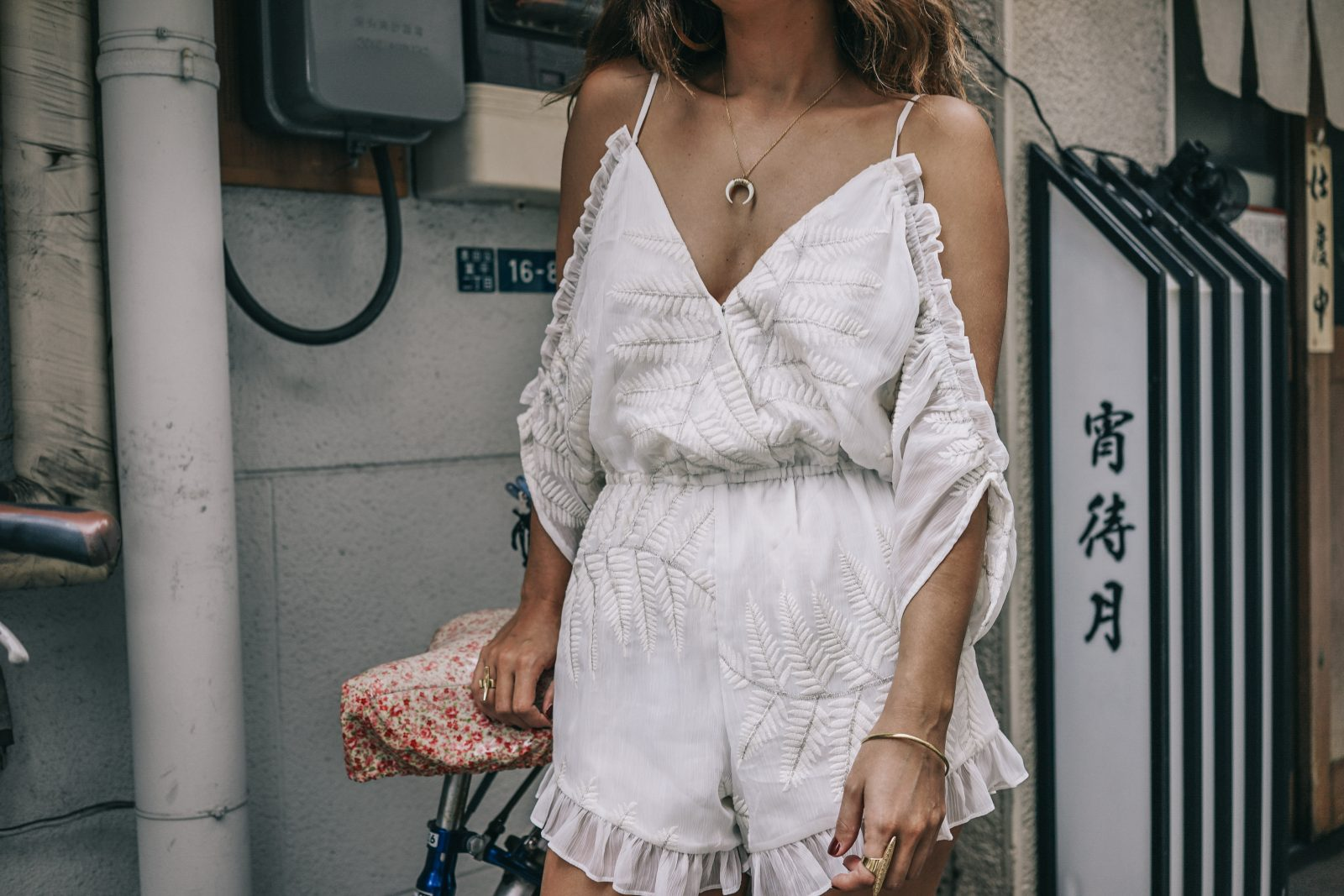 tokyo_travel_guide-outfit-collage_vintage-street_style-lovers_and_friends_jumpsuit-white_outfit-espadrilles-backpack-levis_denim_jacket-akihabara-76
