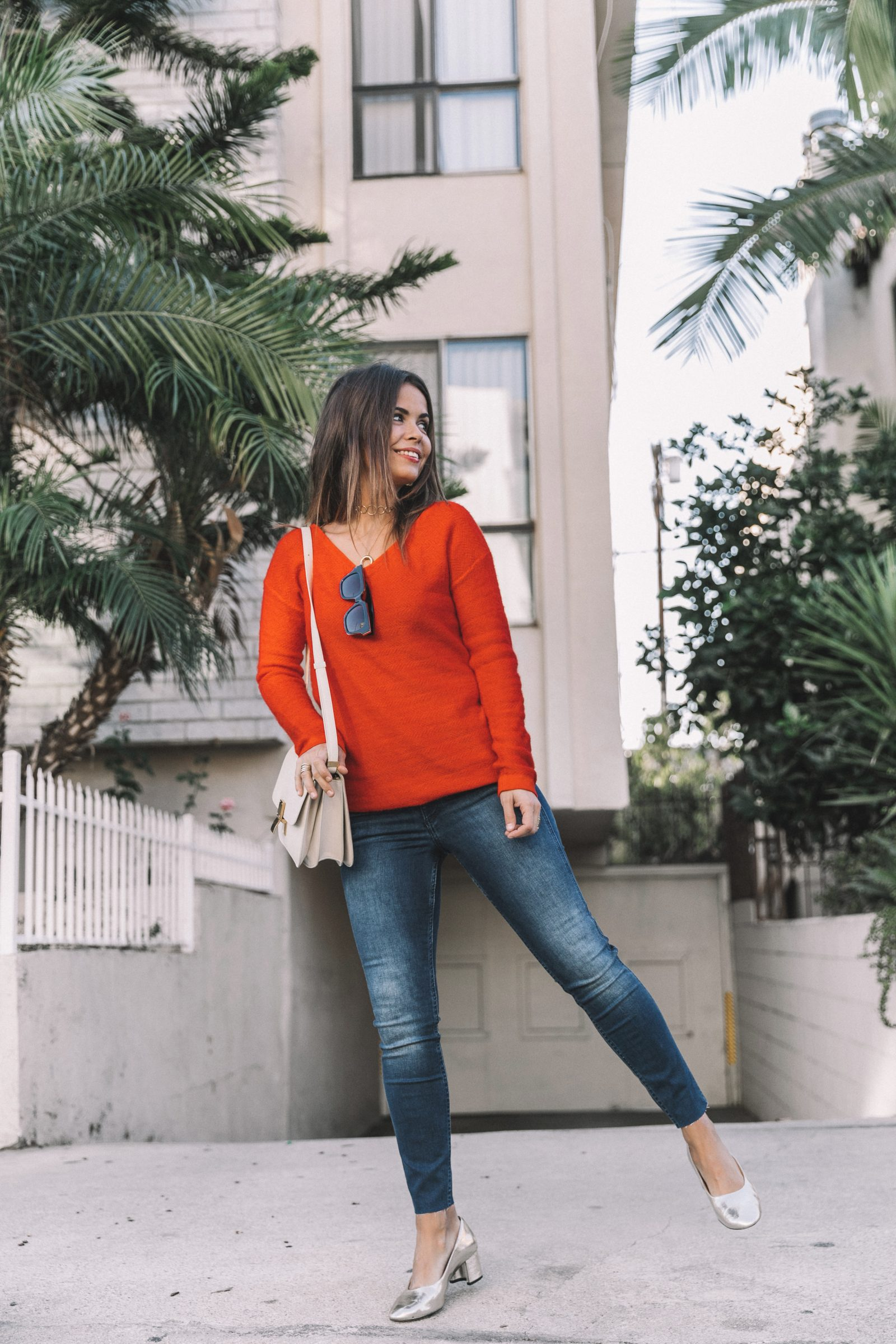 Orange Sweater Collage Vintage