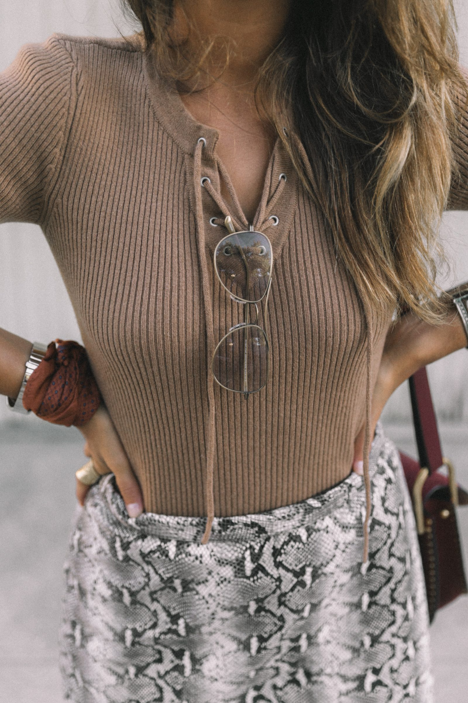 lpa_the_label-revolve_clothing-snake_skirt-lace_up_sweater-knotted_sandals-chloe_hudson_bag-outfit-street_style-los_angeles-39