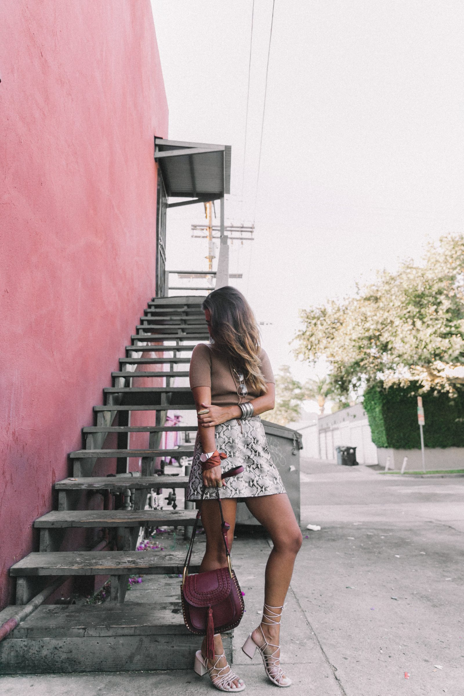 lpa_the_label-revolve_clothing-snake_skirt-lace_up_sweater-knotted_sandals-chloe_hudson_bag-outfit-street_style-los_angeles-59