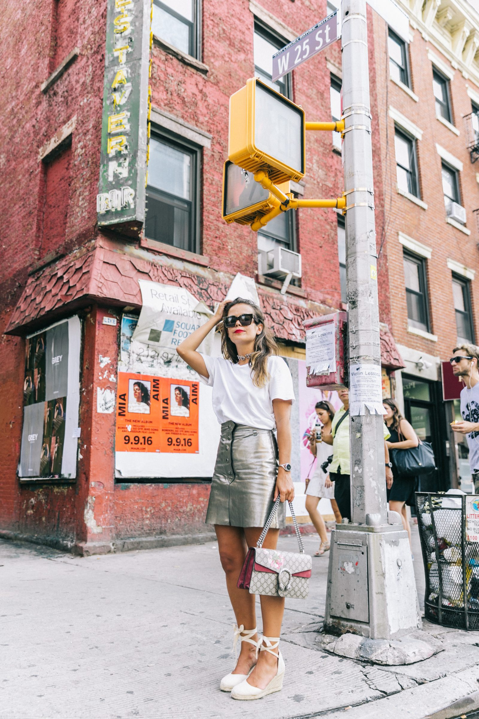 nyfw-new_york_fashion_week_ss17-street_style-outfit-collage_vintage-metallic_leather_skirt-gucci_bag-soludos_espadriles-20