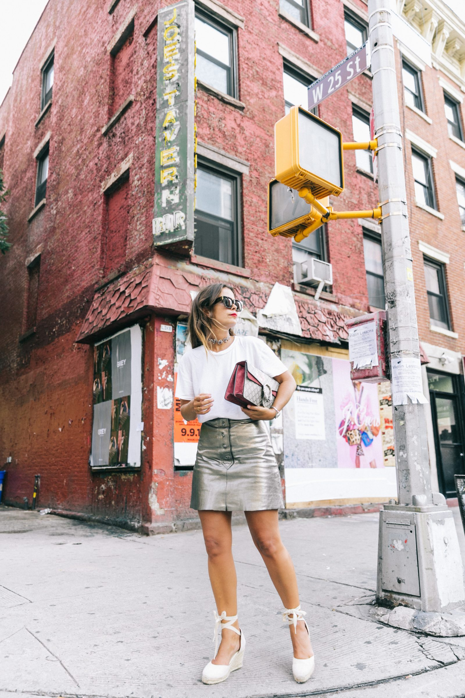 nyfw-new_york_fashion_week_ss17-street_style-outfit-collage_vintage-metallic_leather_skirt-gucci_bag-soludos_espadriles-26