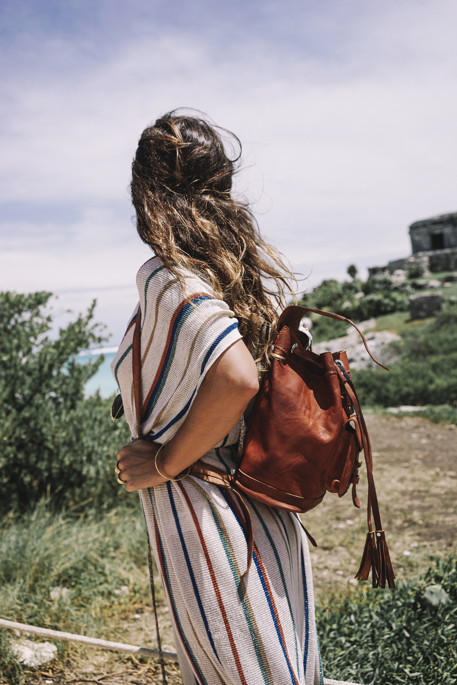 stripped_dress-leather_backpack-suede_espadrilles-mayan_ruins-hotel_esencia-sanara_tulum-beach-mexico-outfit-collage_vintage-42