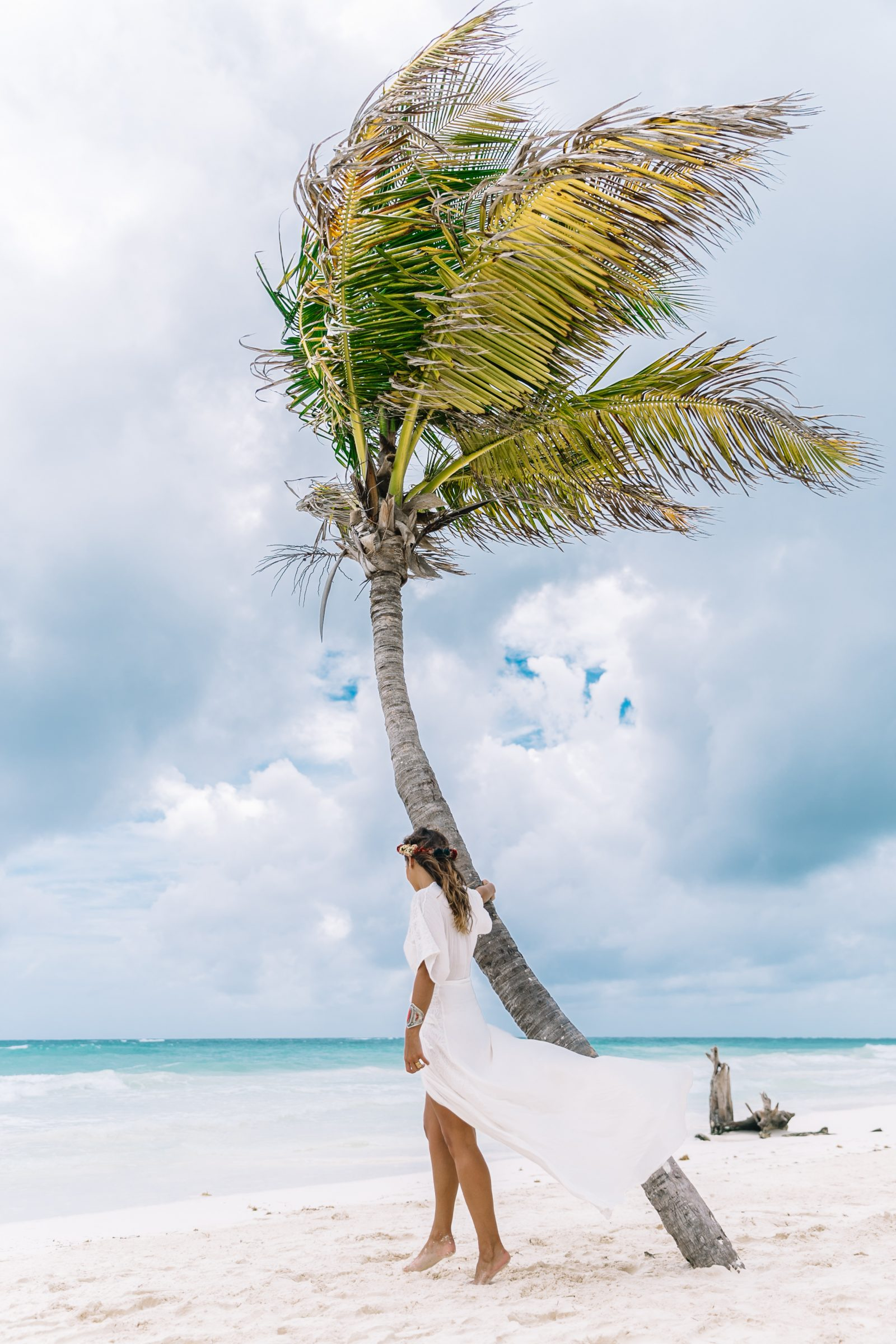 white_long_dress-boho_style-tulum_mexico-beach-floral_crown-outfit-collage_vintage-15