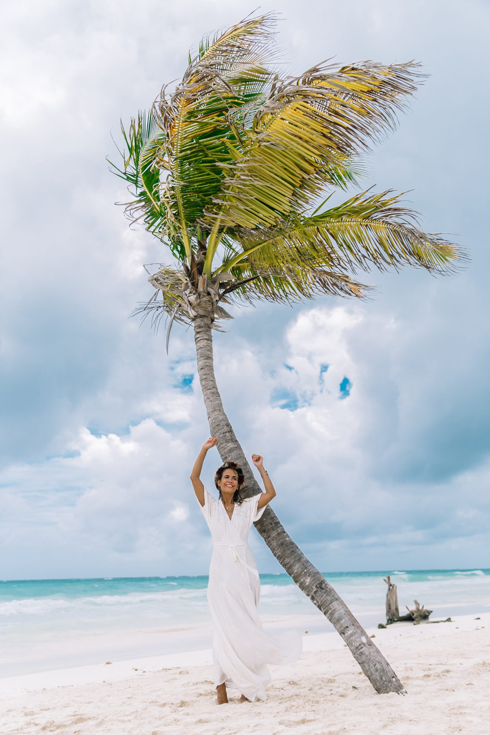 white_long_dress-boho_style-tulum_mexico-beach-floral_crown-outfit-collage_vintage-18