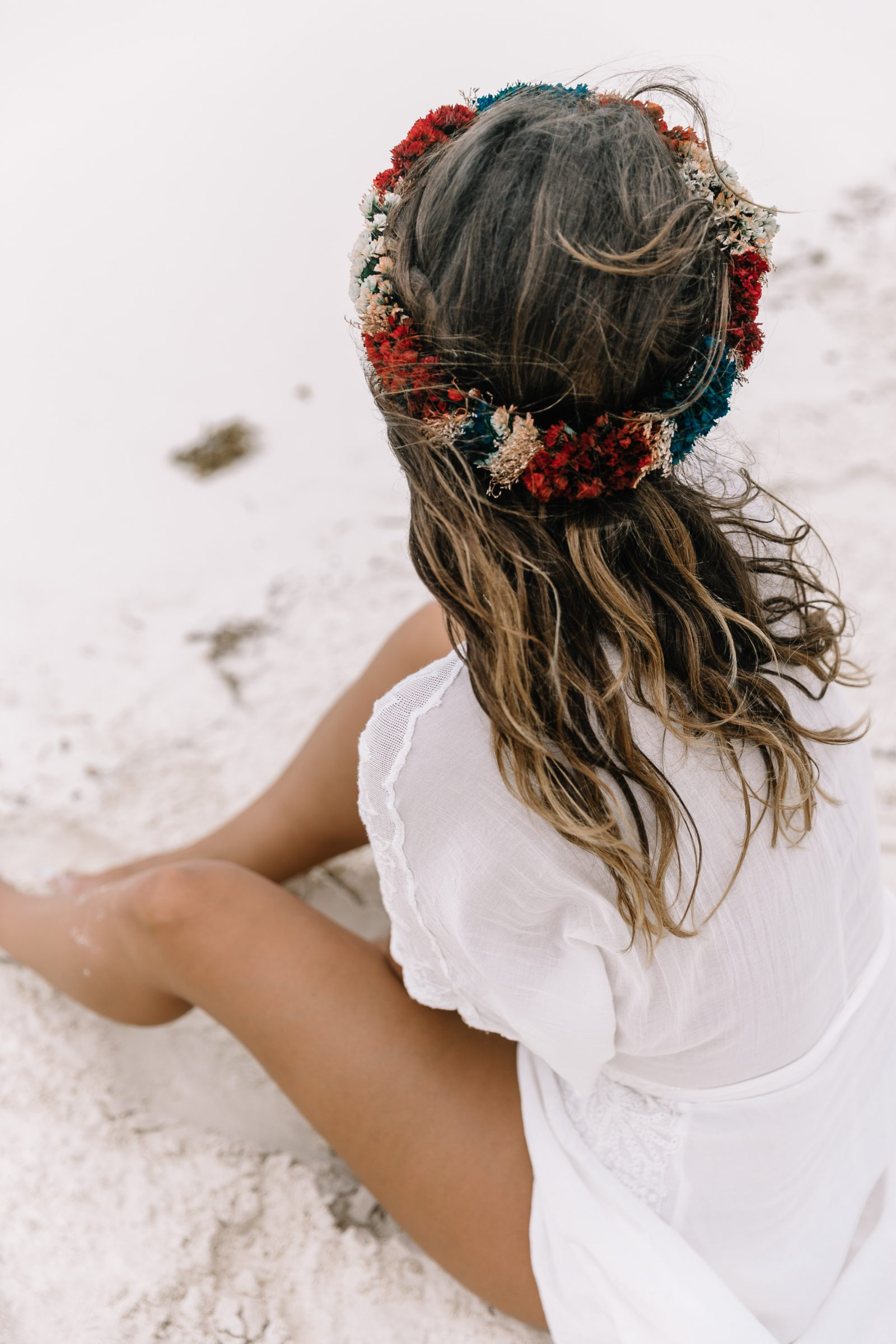 white_long_dress-boho_style-tulum_mexico-beach-floral_crown-outfit-collage_vintage-48
