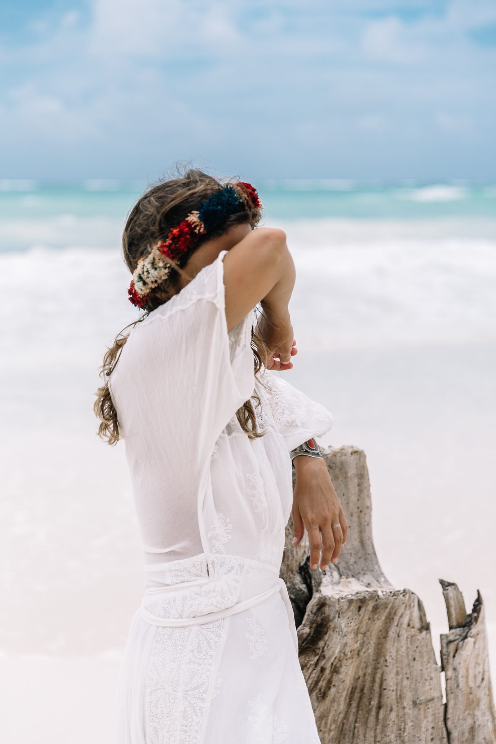 white_long_dress-boho_style-tulum_mexico-beach-floral_crown-outfit-collage_vintage-75