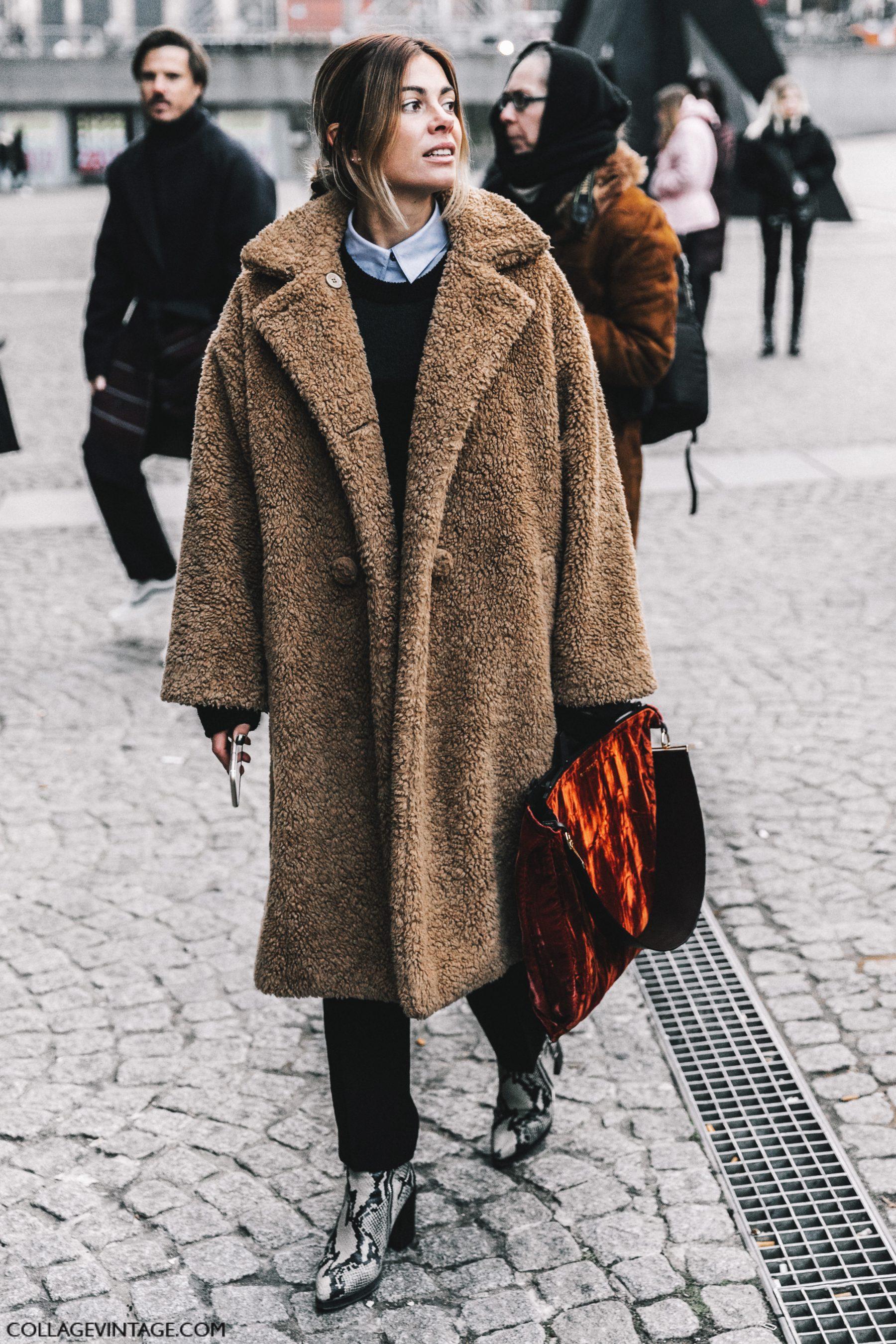 Milan Fashion Week Street Style  Fur Beige