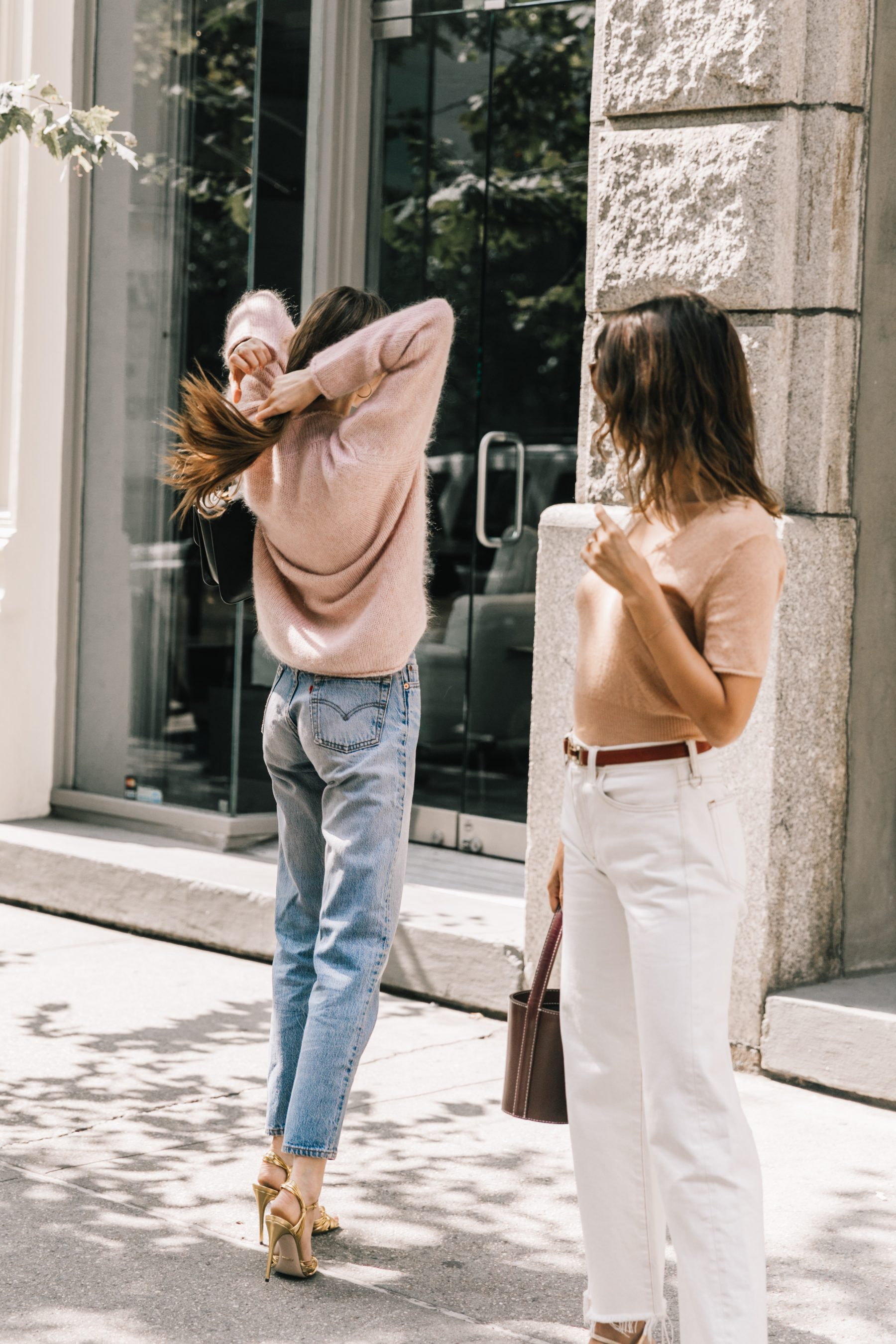 Jeanne Damas and Laura Love after Mansur Gavriel in NYC by Collage Vintage