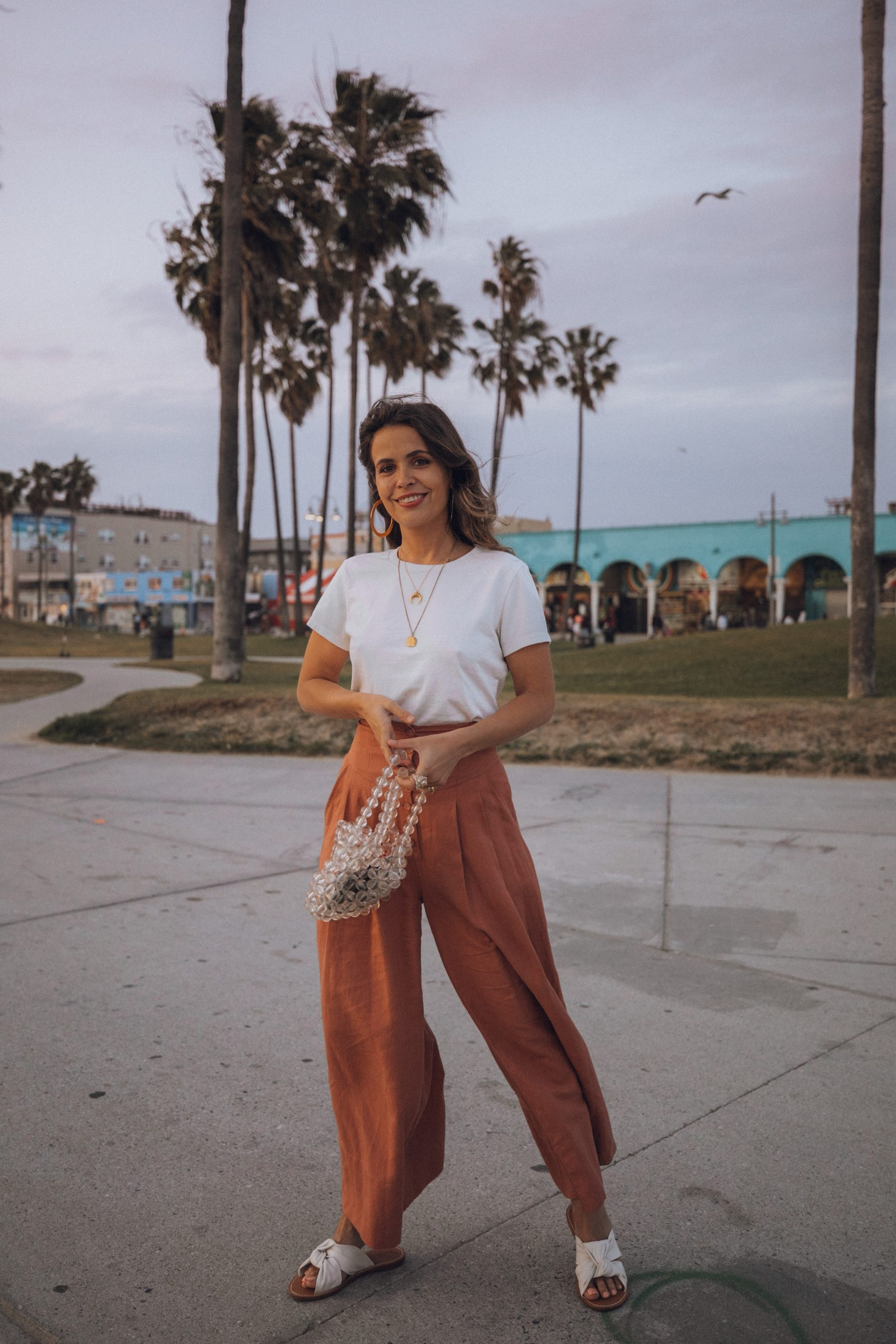Fashion blogger Sara Escudero of Collage Vintage wearing Ulla Johnson pants