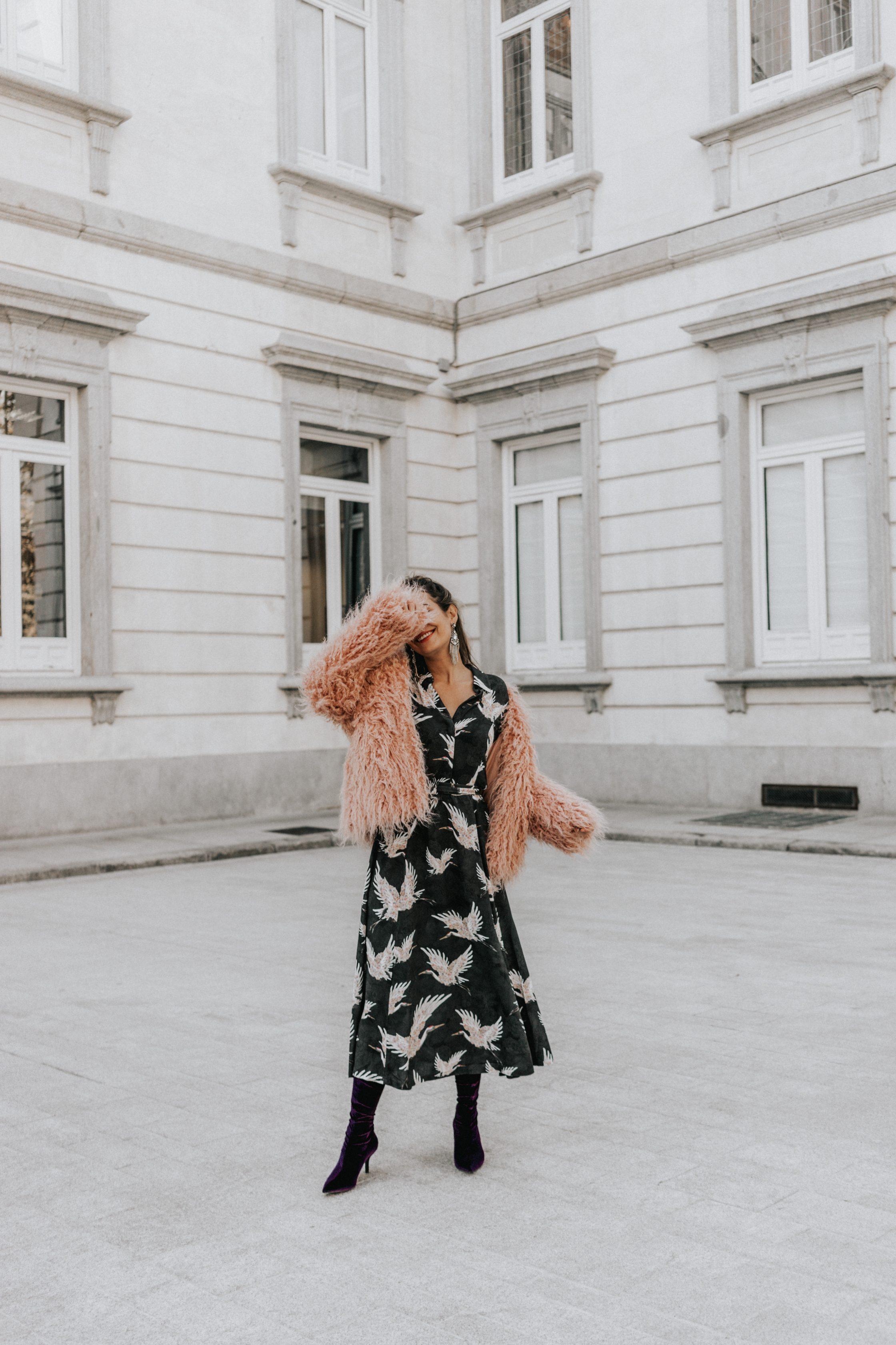 Winter long dress