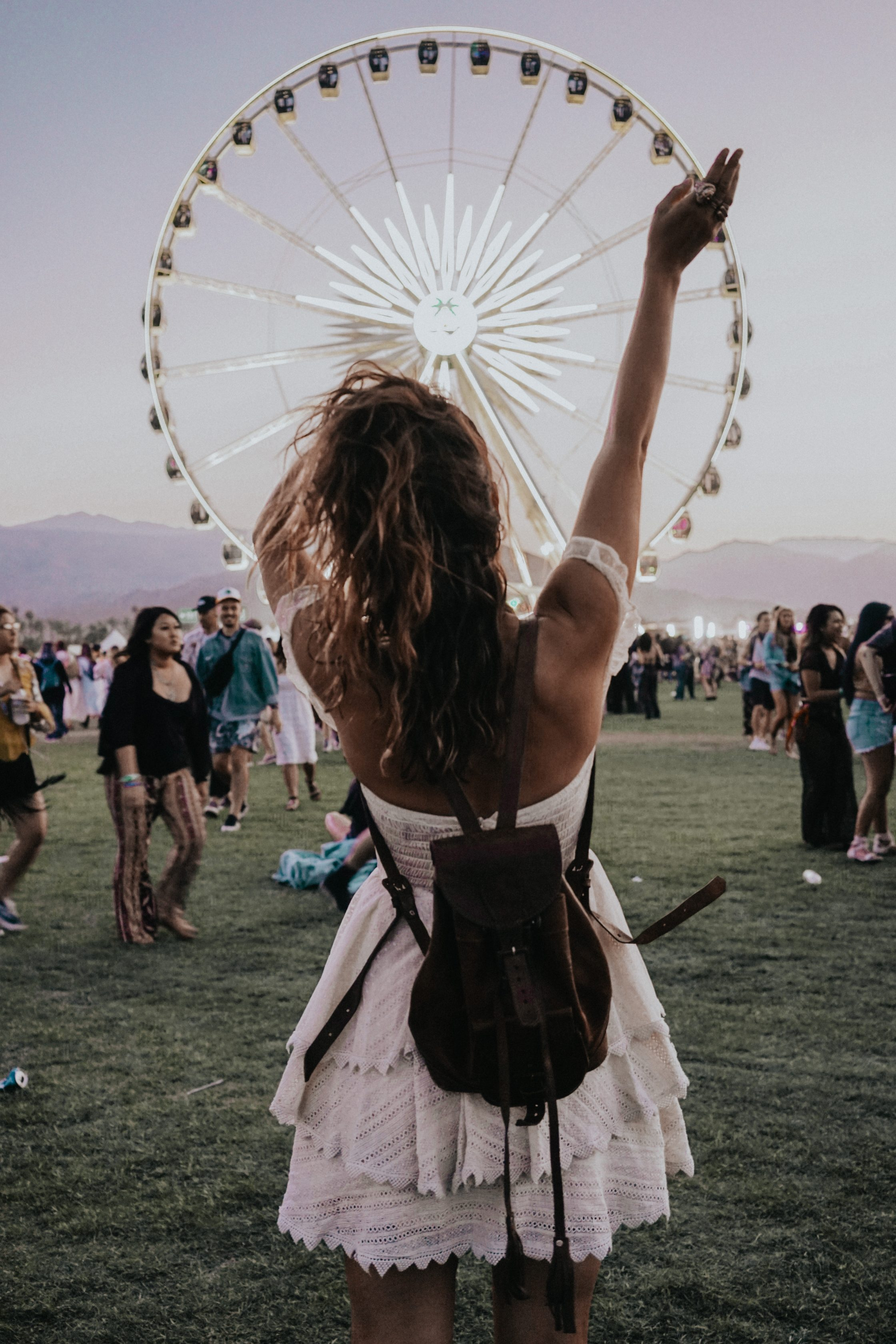 Sara of Collage Vintage at Coachella 2018