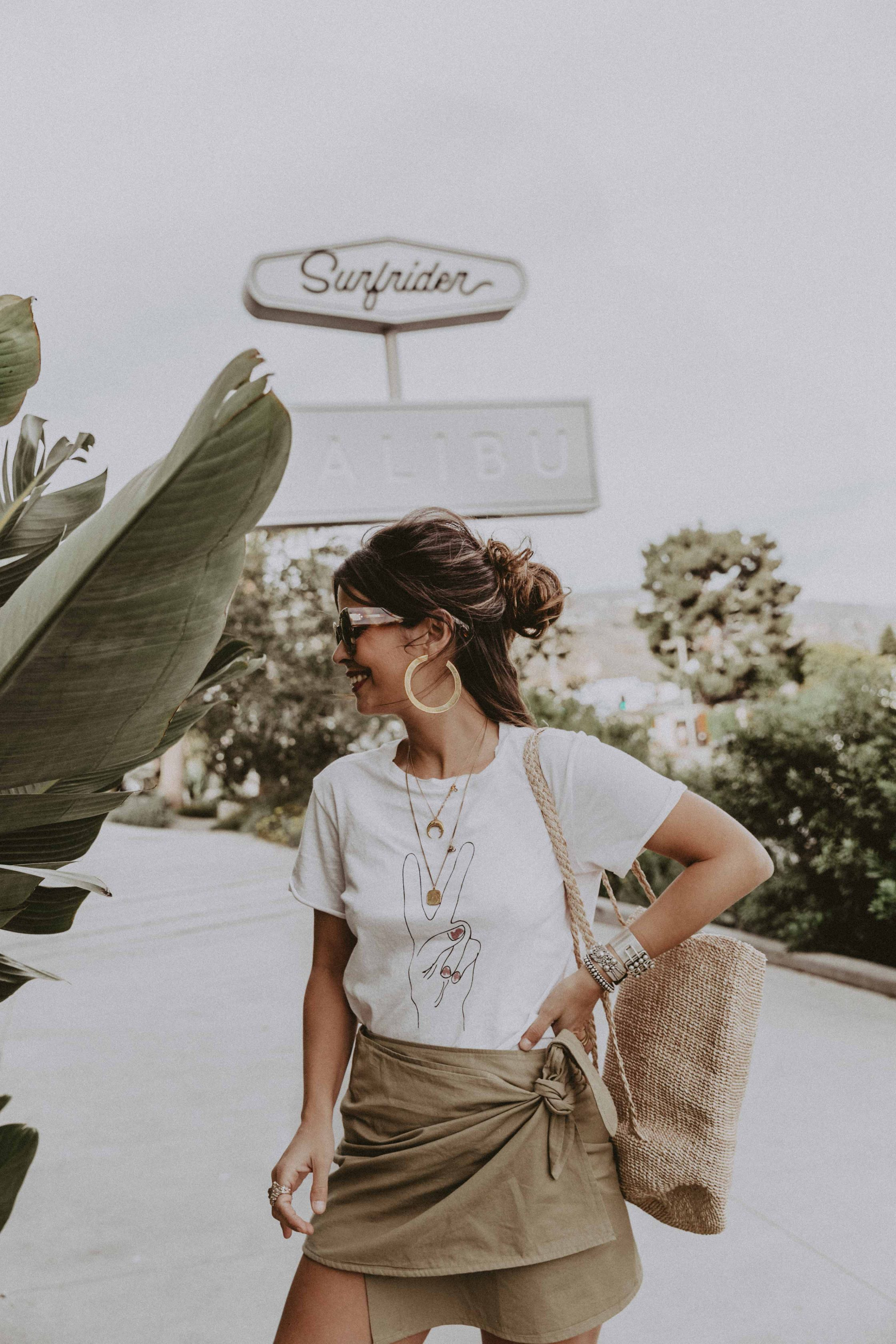 Sara of Collage Vintage wearing Shop Sincerely Jules summer collection