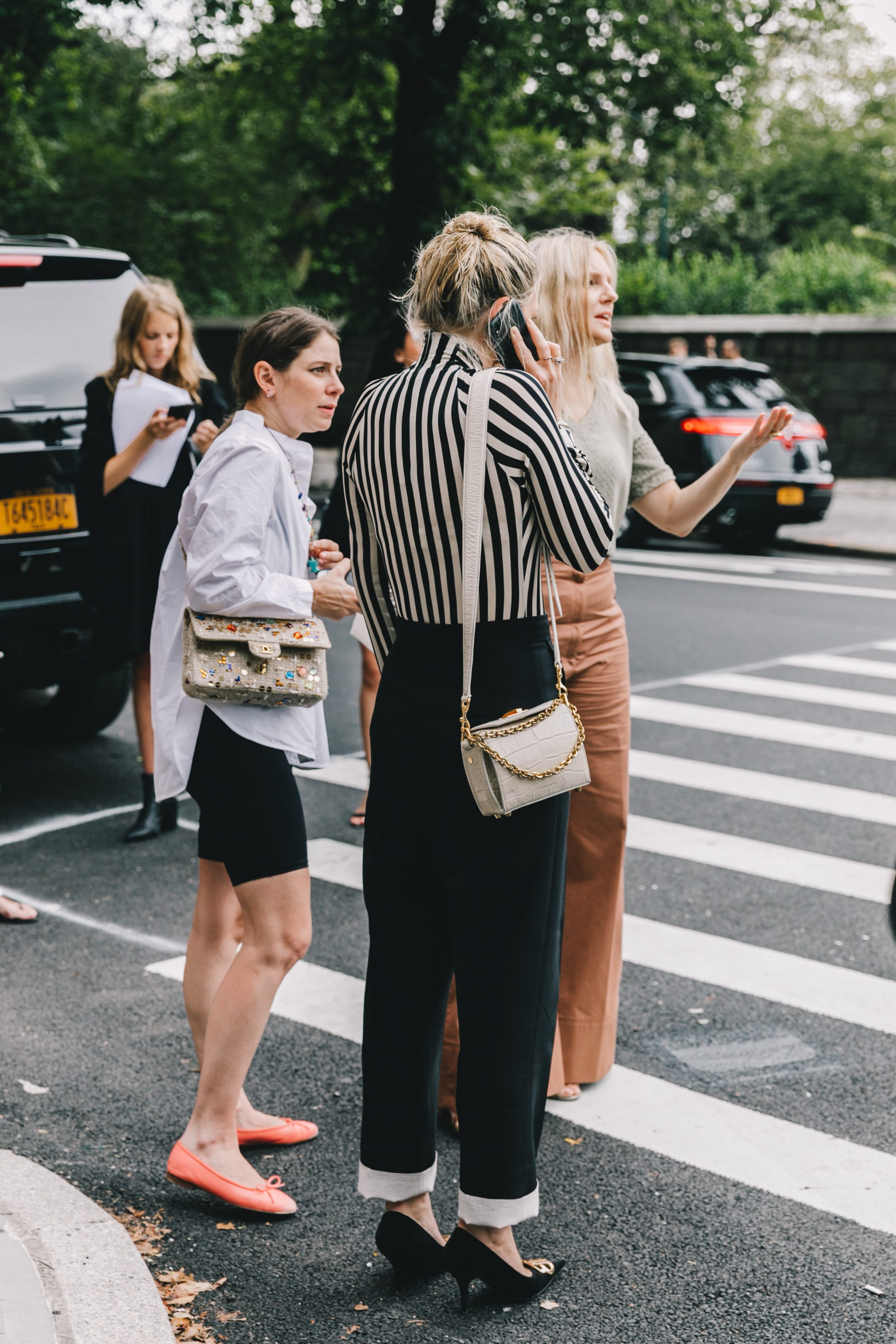 Collage Vintage Street Style from New York Fashion Week
