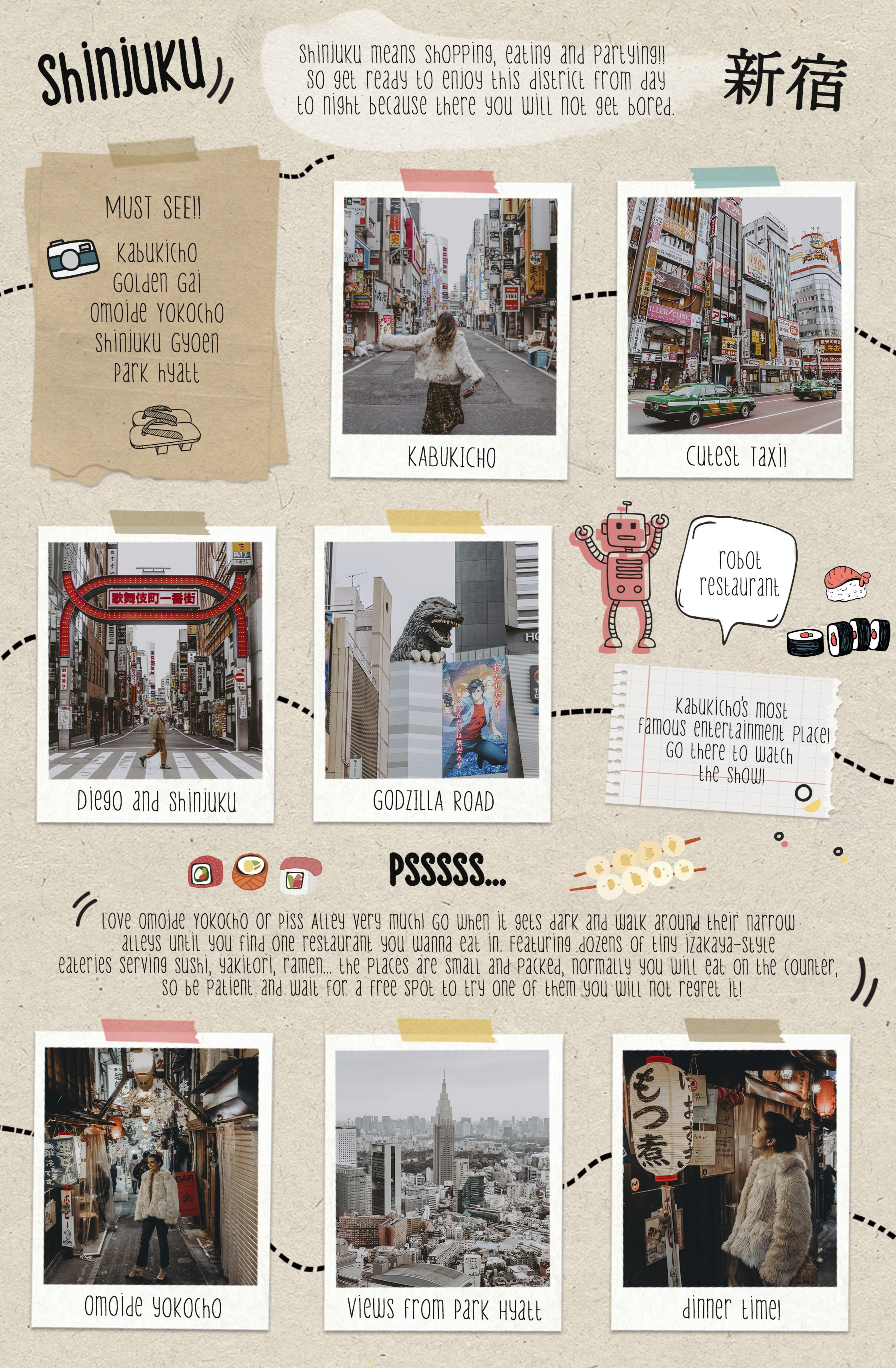 Tokyo and Kyoto travel guide by Collage Vintage