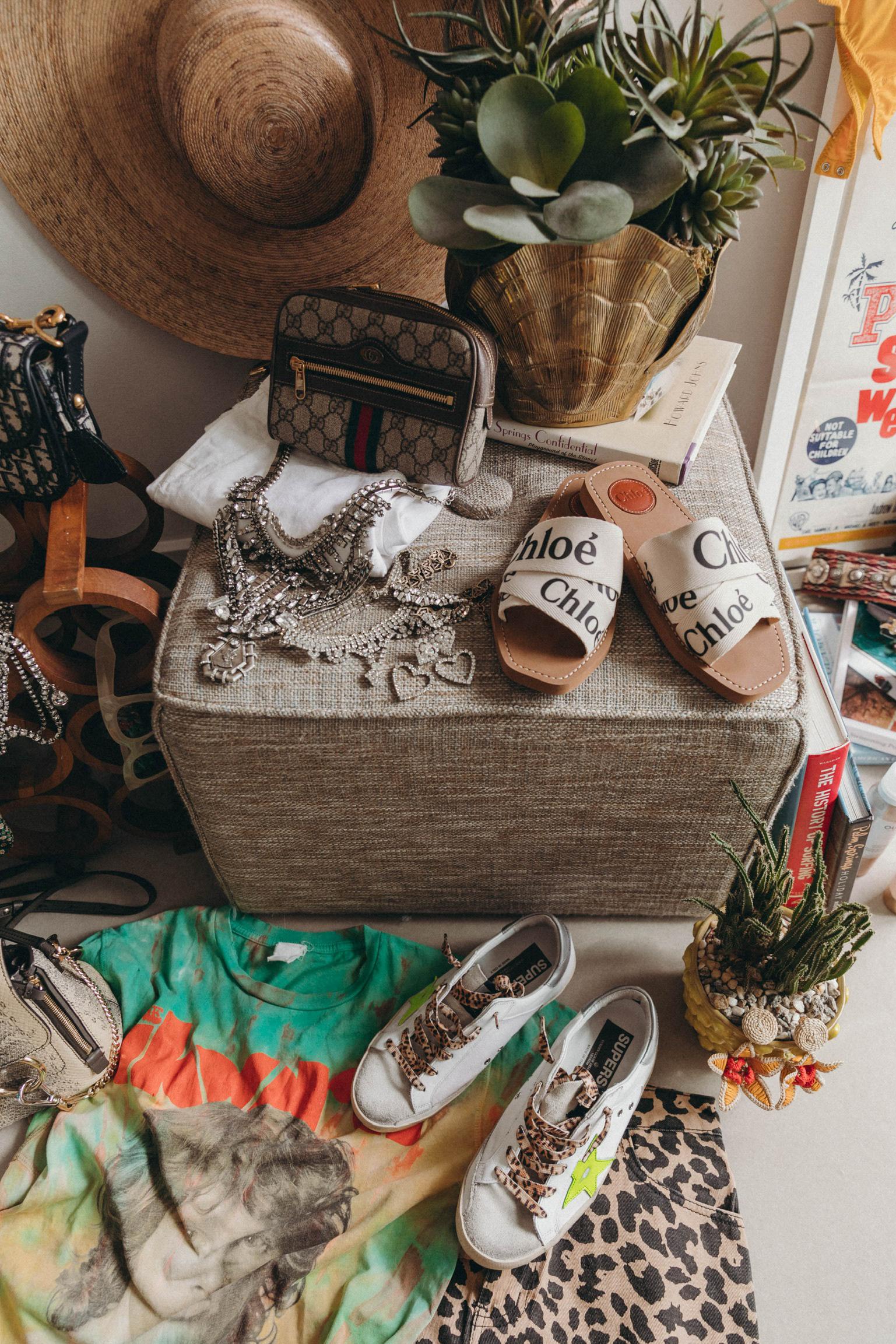 Collage Vintage Festival closet for Coachella