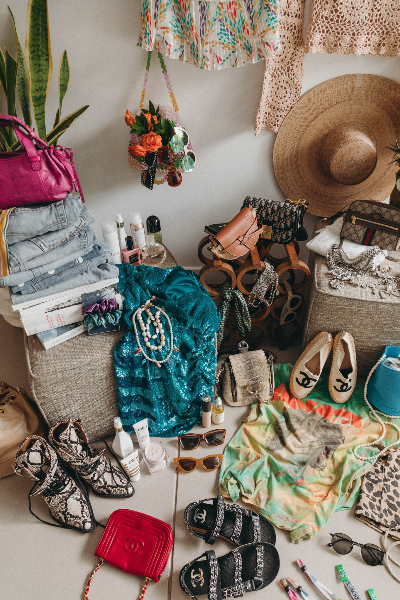 Collage Vintage Festival closet for Coachella